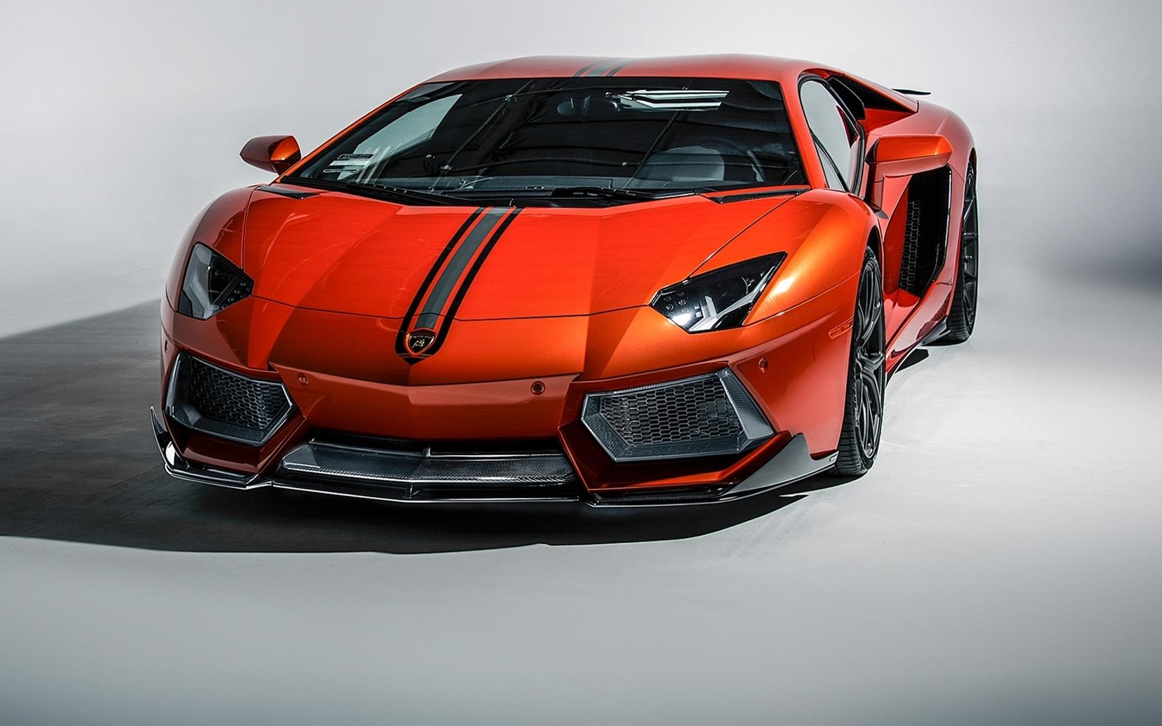 Обои Lamborghini Aventador LP 700-4 Vorsteiner Tuning Car, оранжевый, hd. Автомобили foto 13