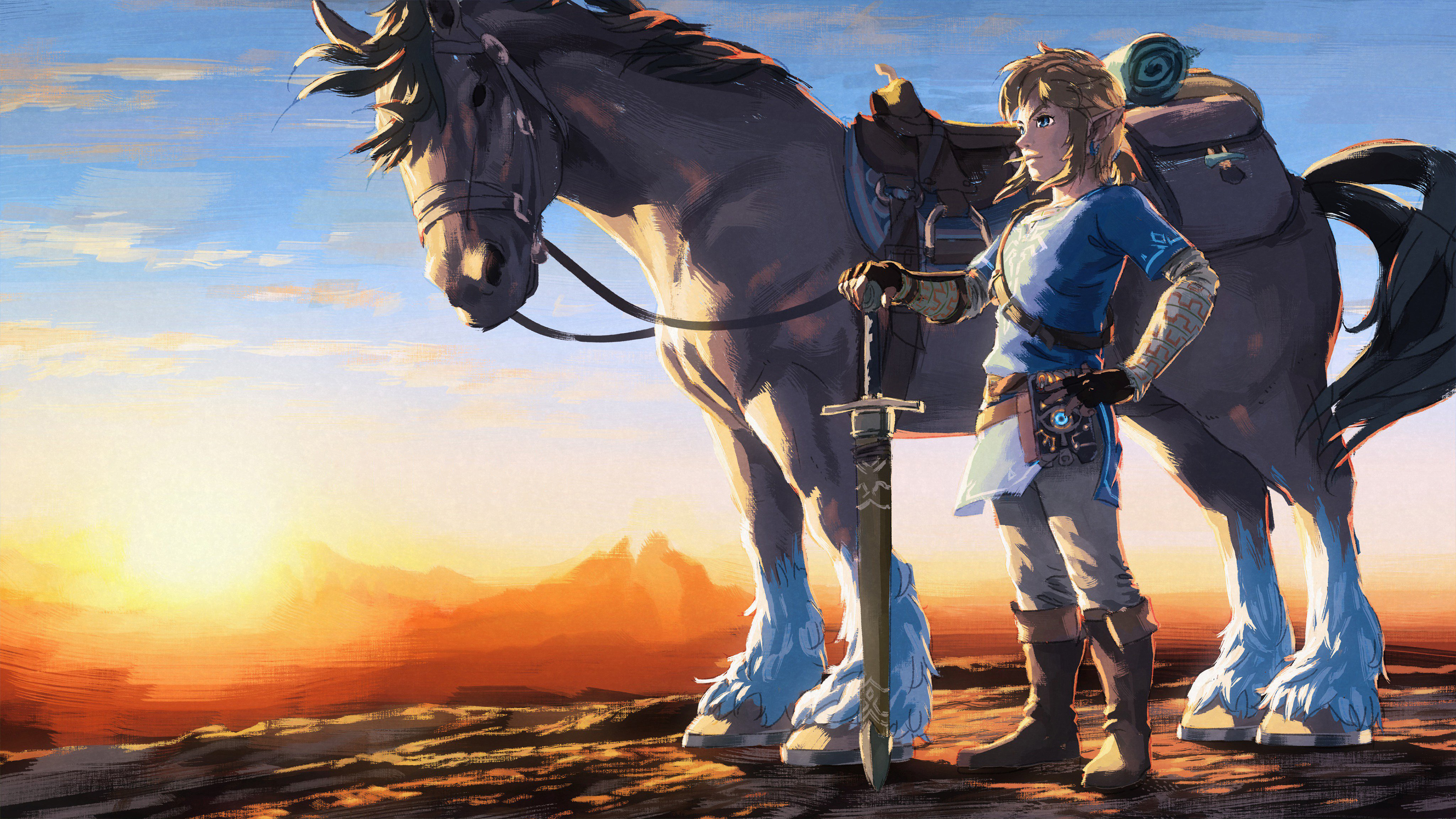 3840x2160 1 Year Anniversary The Legend Of Zelda Breath Of The