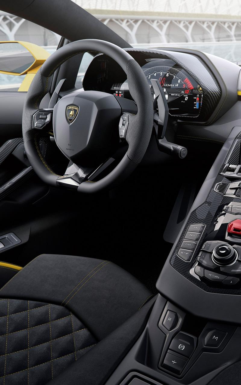 800x1280 2017 lamborghini aventador s interior 8k nexus 7 - Lamborghini aventador interior wallpaper ...