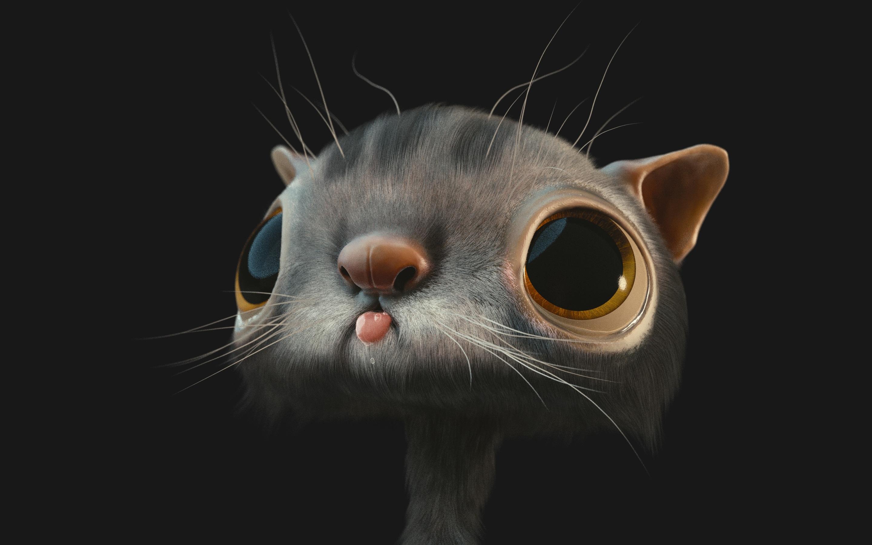2880x1800 3d cat macbook pro retina hd 4k wallpapers for Sfondi per desktop 3d