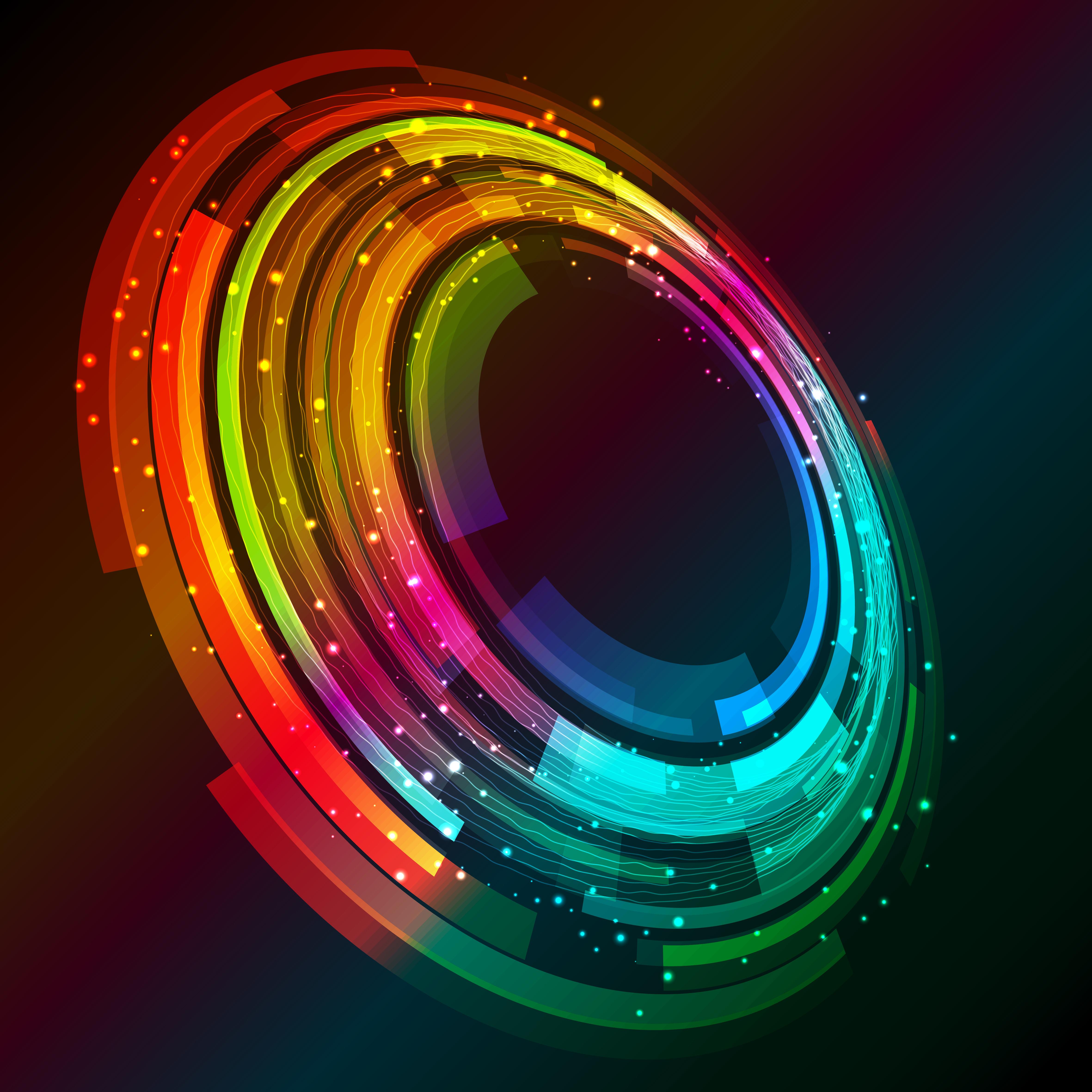 Abstract Circle Rotation 4k, HD Abstract, 4k Wallpapers