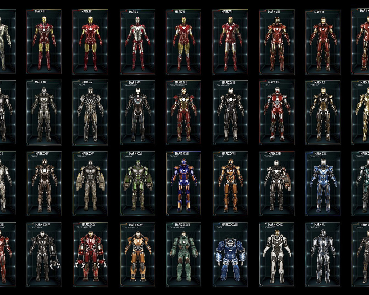 all iron man suits wallpaper - photo #5
