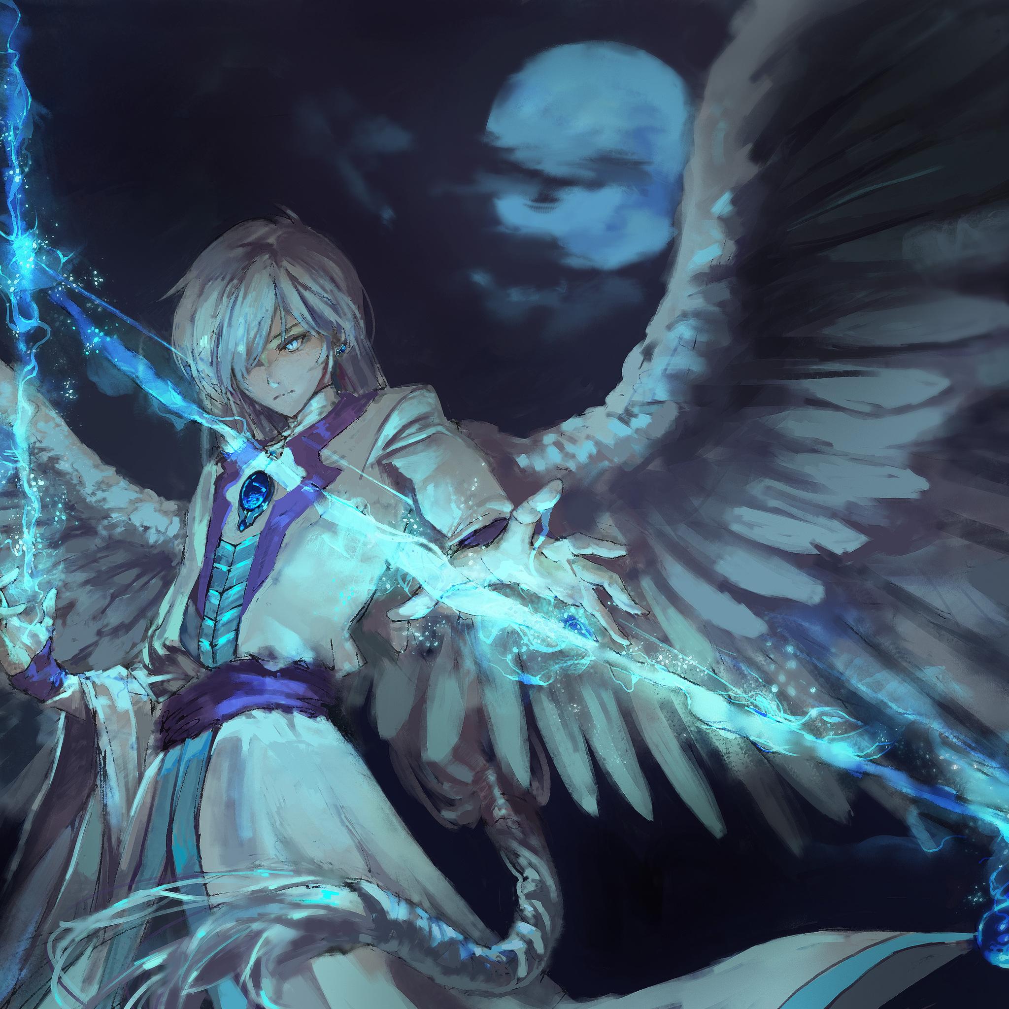 2048x2048 Anime Angel Boy With Magical Arrow Ipad Air HD ...