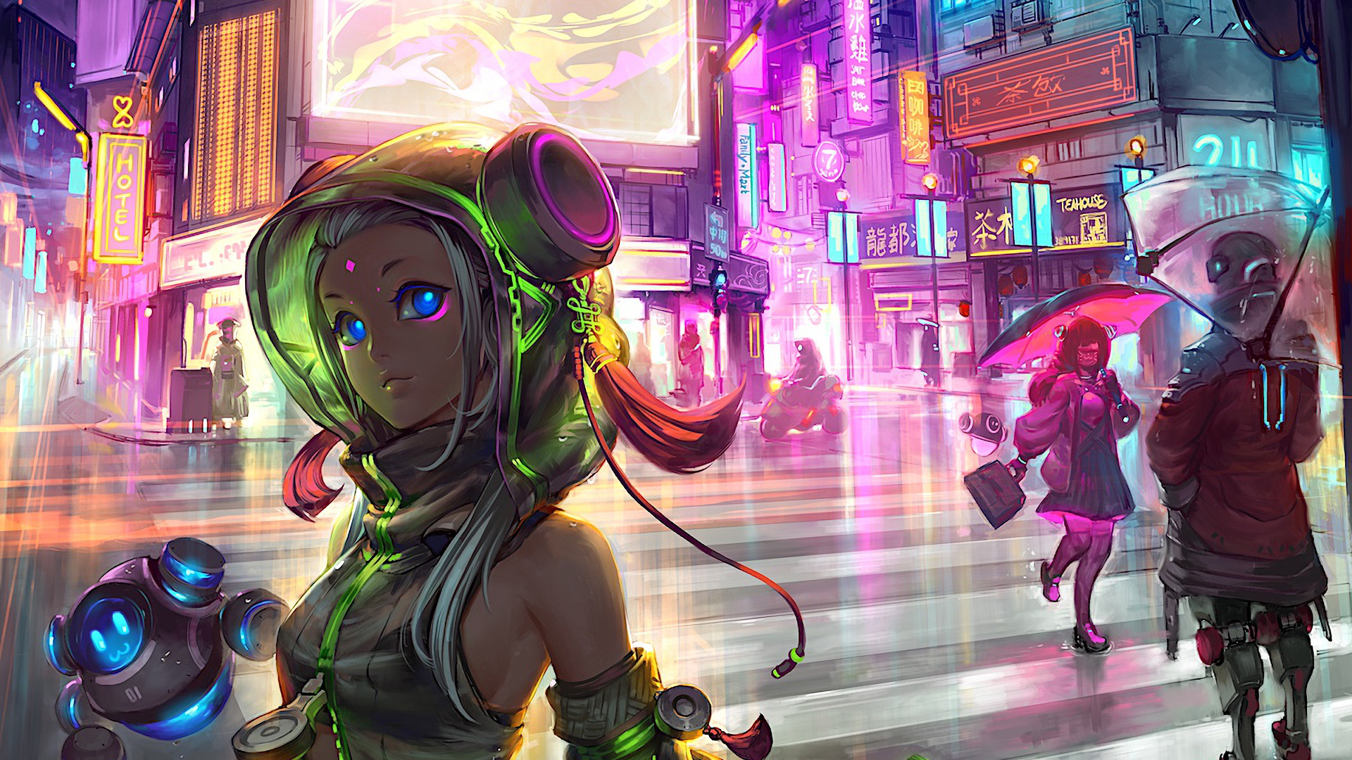 1920x1080 Anime Cyberpunk Scifi City Laptop Full HD 1080P ...