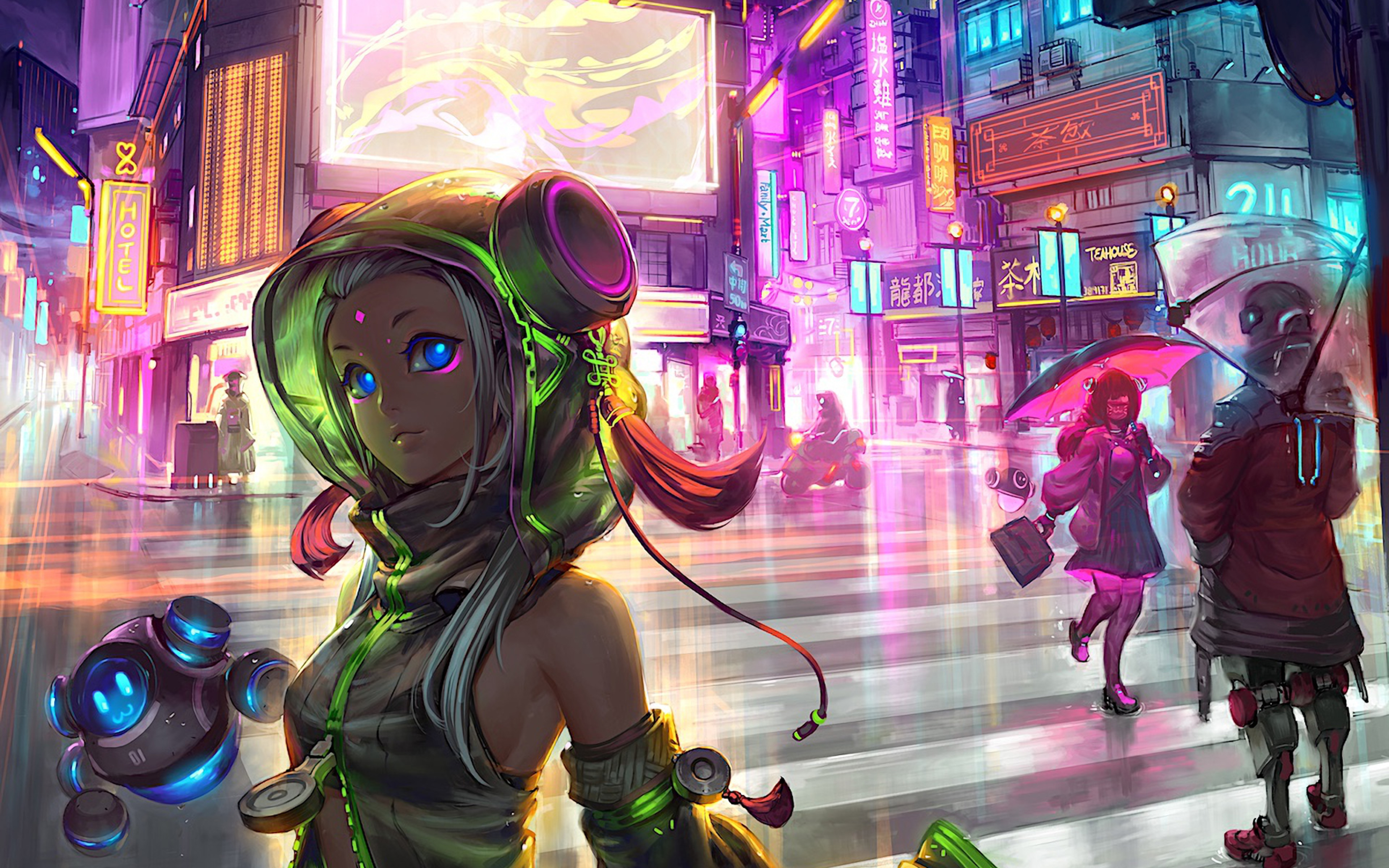 3840x2400 Anime Cyberpunk Scifi City 4k HD 4k Wallpapers ...
