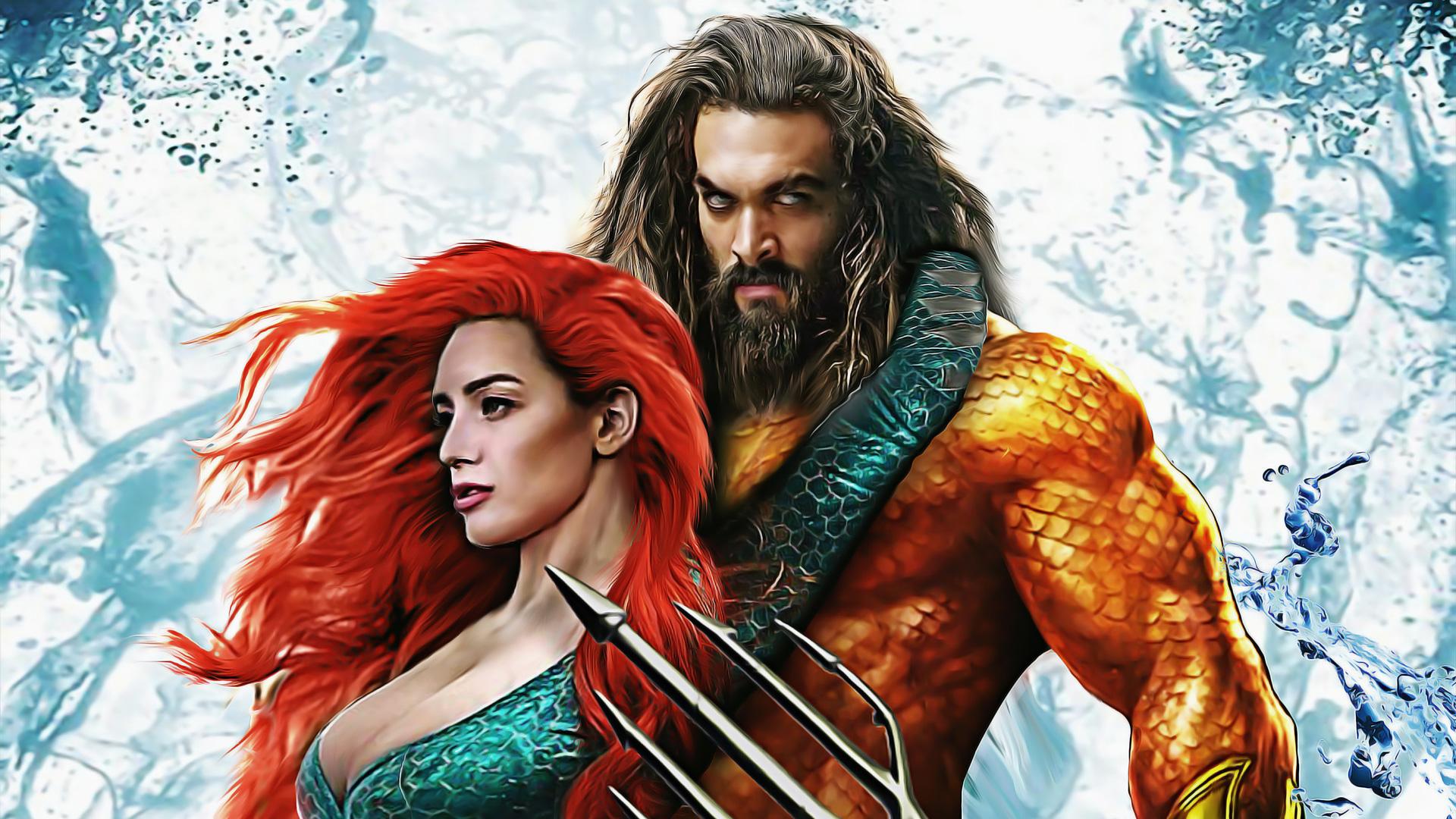 Aquaman Movie Free Download In Hindi In 1080: 1920x1080 Aquaman And Mera Art Laptop Full HD 1080P HD 4k
