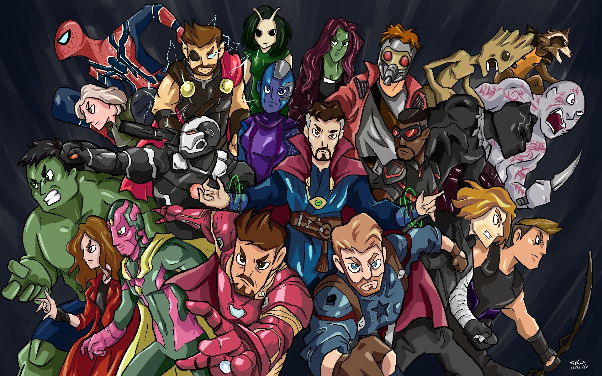 2048x1152 Pubg Fan Art 2048x1152 Resolution Hd 4k: 2048x1152 Avengers Infinity War Hero Side Fan Art