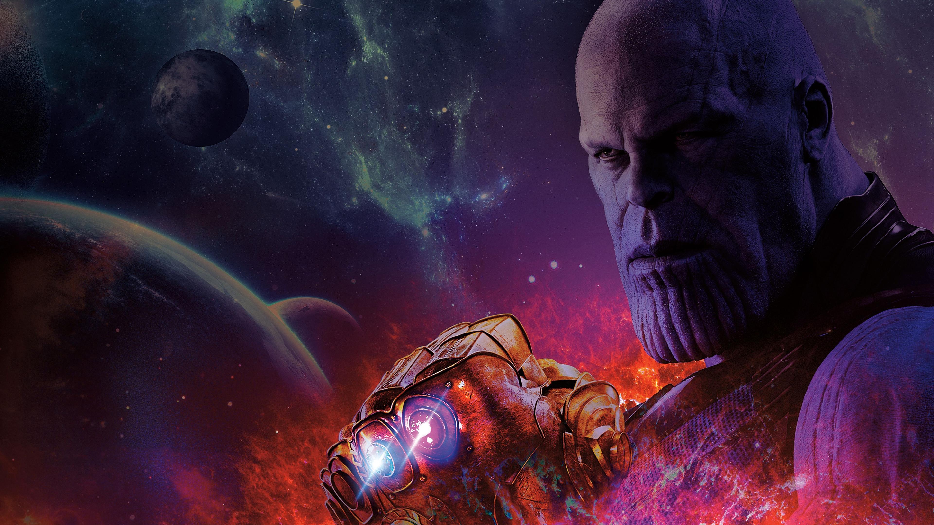 Wallpaper Thanos Avengers Infinity War Artwork Hd: 3840x2160 Avengers Infinity War Thanos With Gauntlet