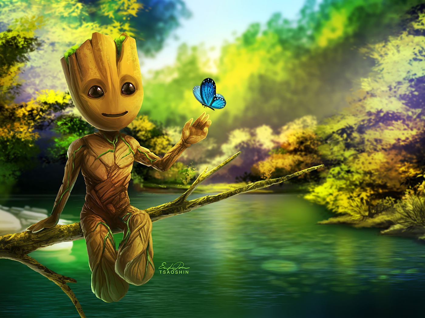 1400x1050 Baby Groot Artwork 1400x1050 Resolution HD 4k