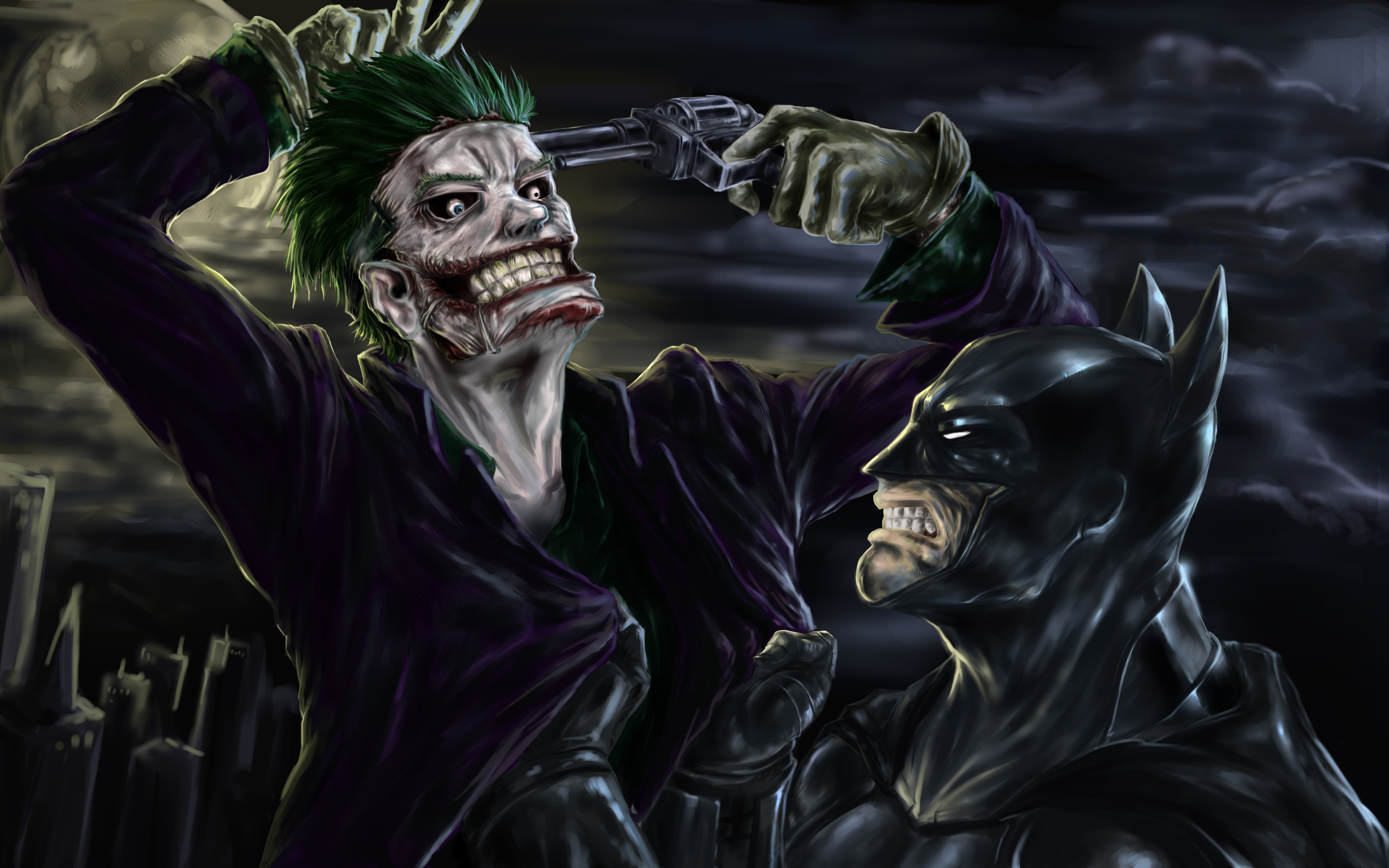 Batman And Joker 4k, HD Superheroes, 4k Wallpapers, Images ...