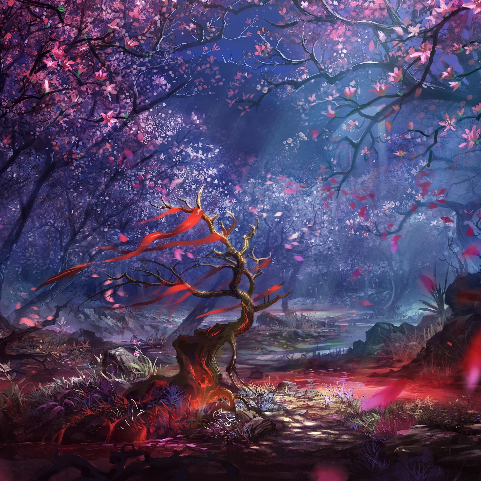 2048x2048 Beautiful Forest Art Ipad Air HD 4k Wallpapers