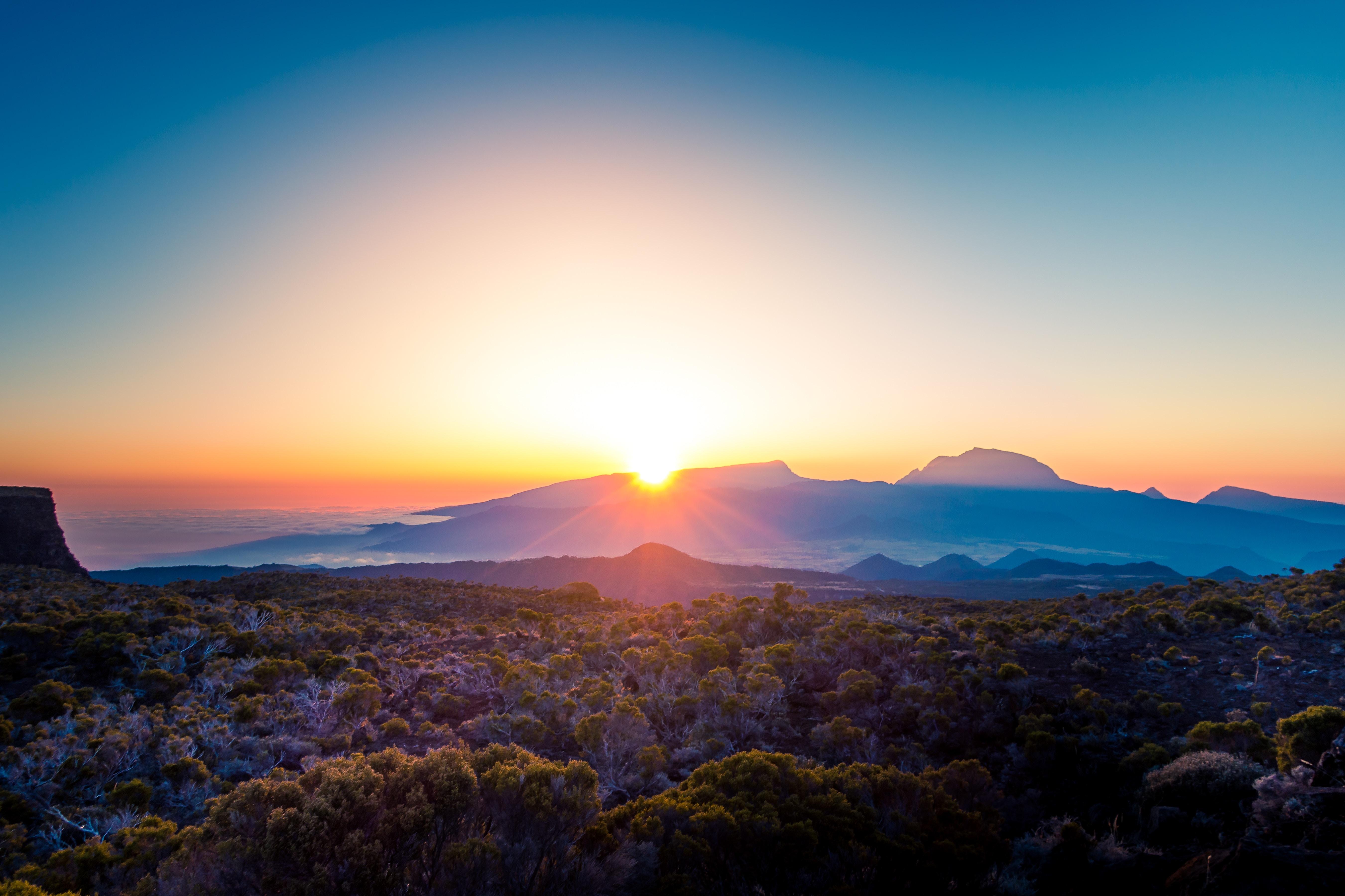 Beautiful Morning Sky Landscape Sunshine 5k, HD Nature, 4k
