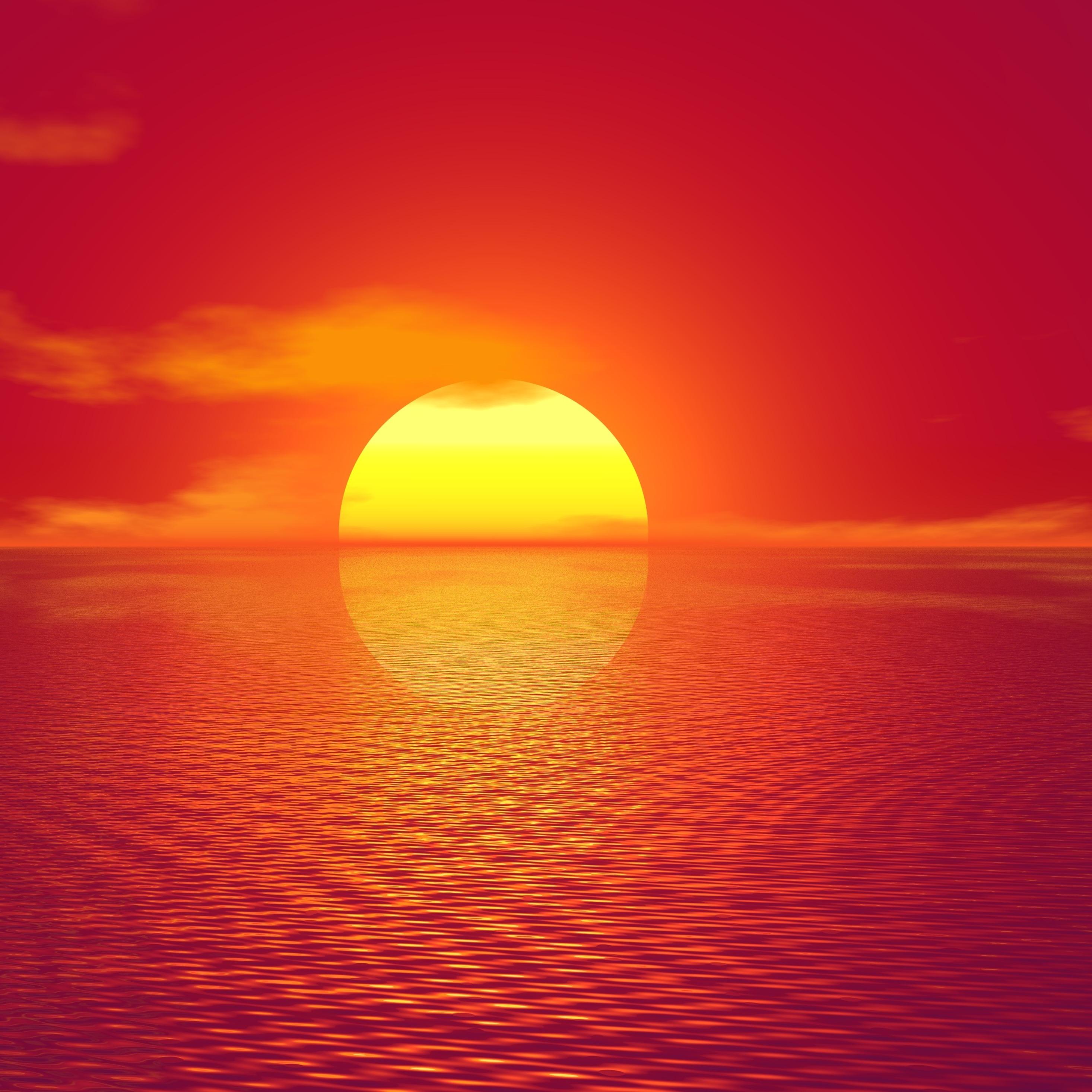 2932x2932 Big Sun Sunset 4k Ipad Pro Retina Display HD 4k ...