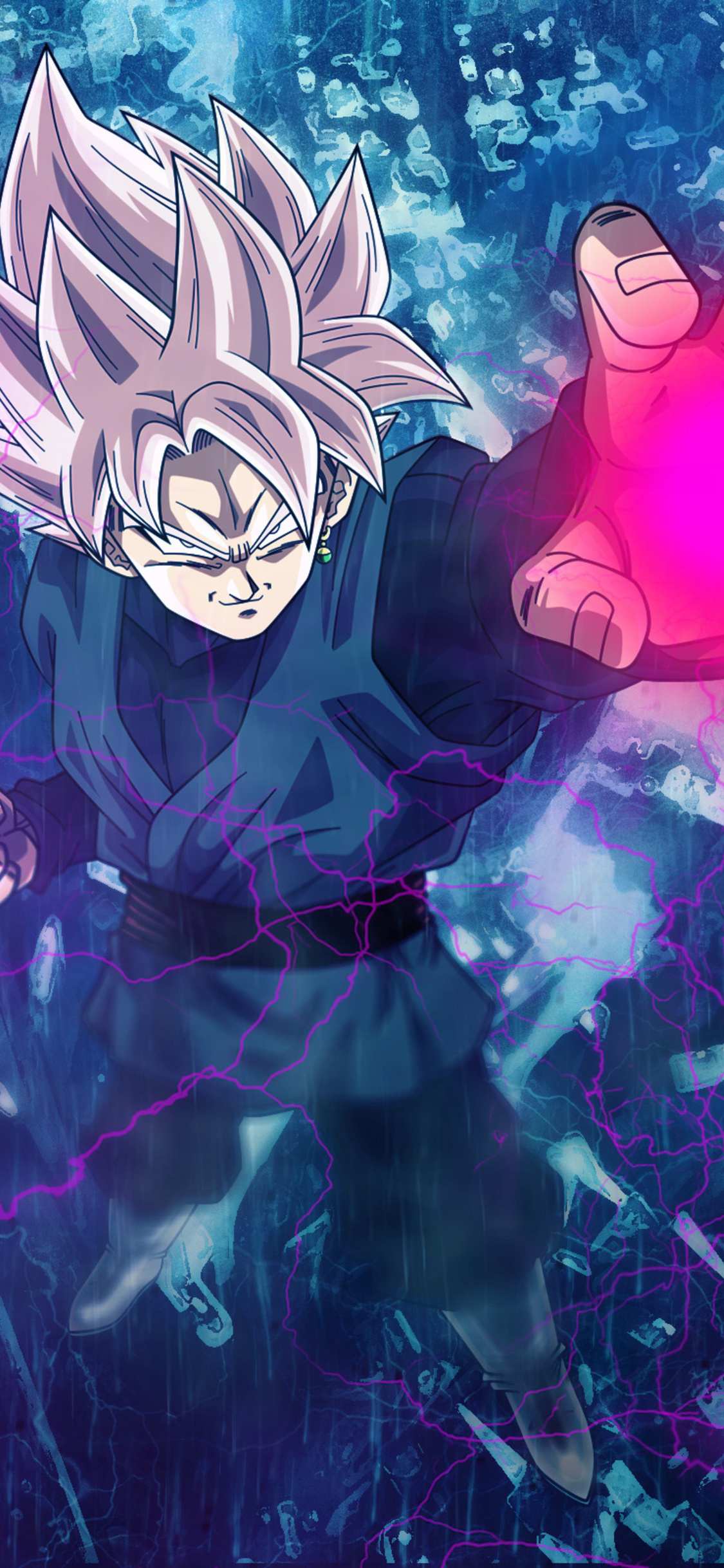 1125x2436 black goku iphone xs iphone 10 iphone x hd 4k - Goku wallpaper 4k ...