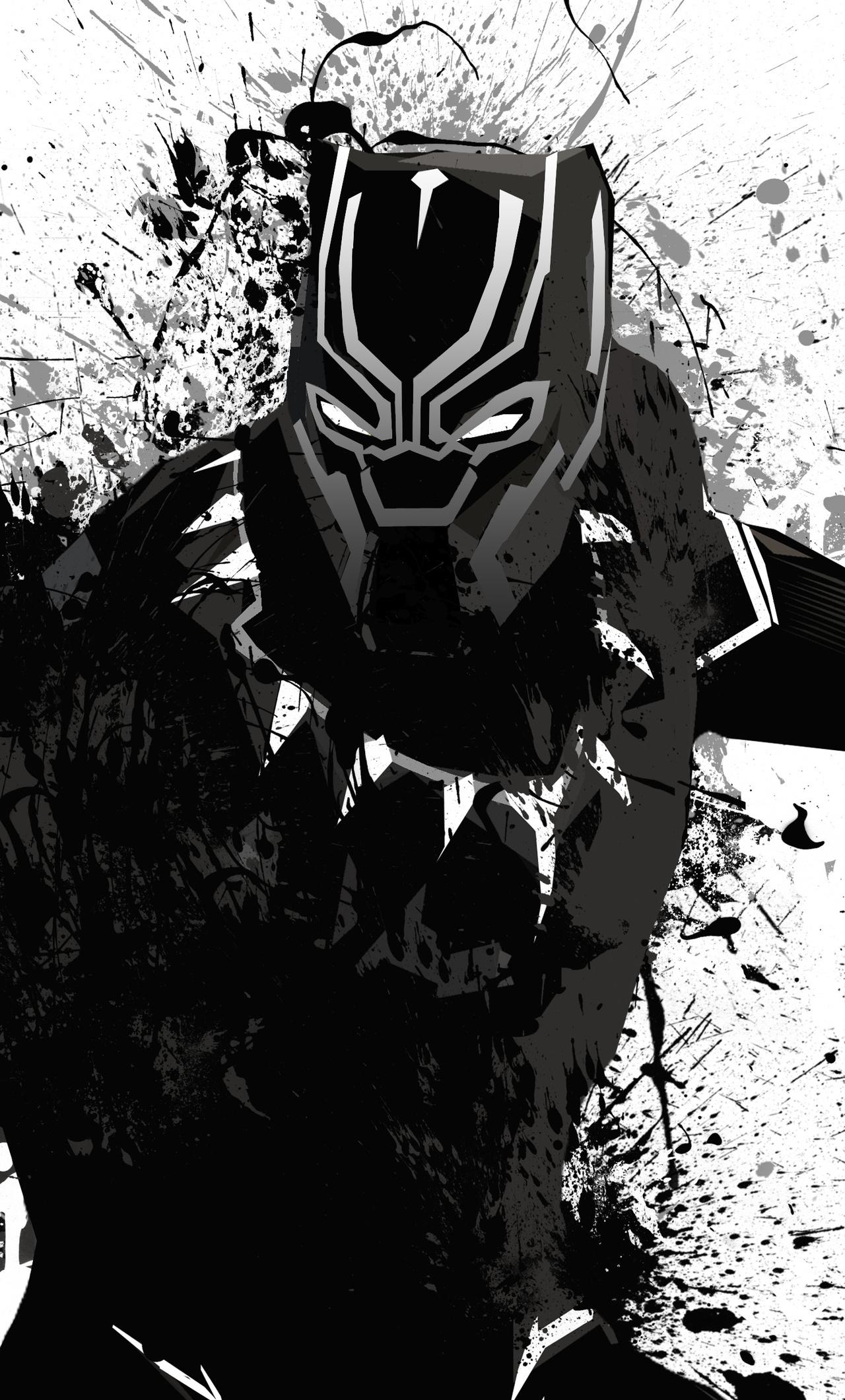1280x2120 Black Panther 4k Fan Artwork iPhone 6+ HD 4k ...
