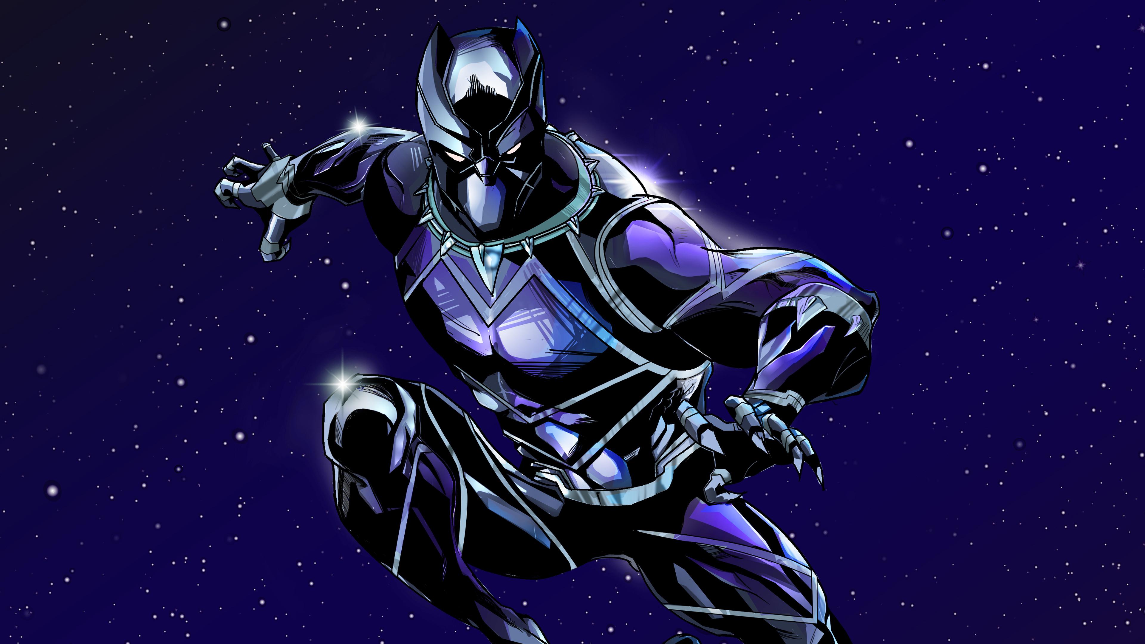 Black Panther 4k New Artwork, HD Superheroes, 4k ...