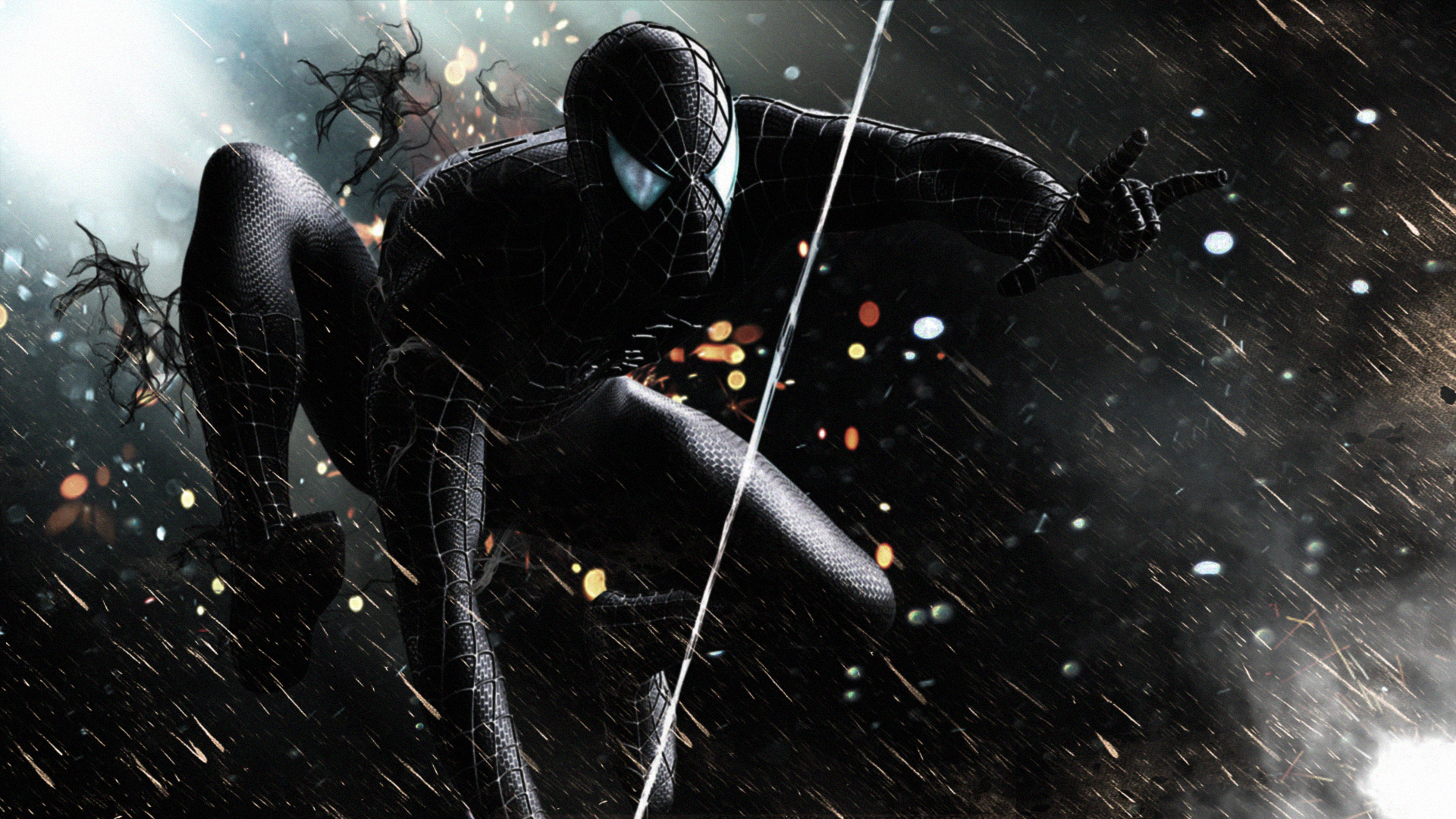 Black spiderman hd superheroes 4k wallpapers images - Black and white spiderman wallpaper ...