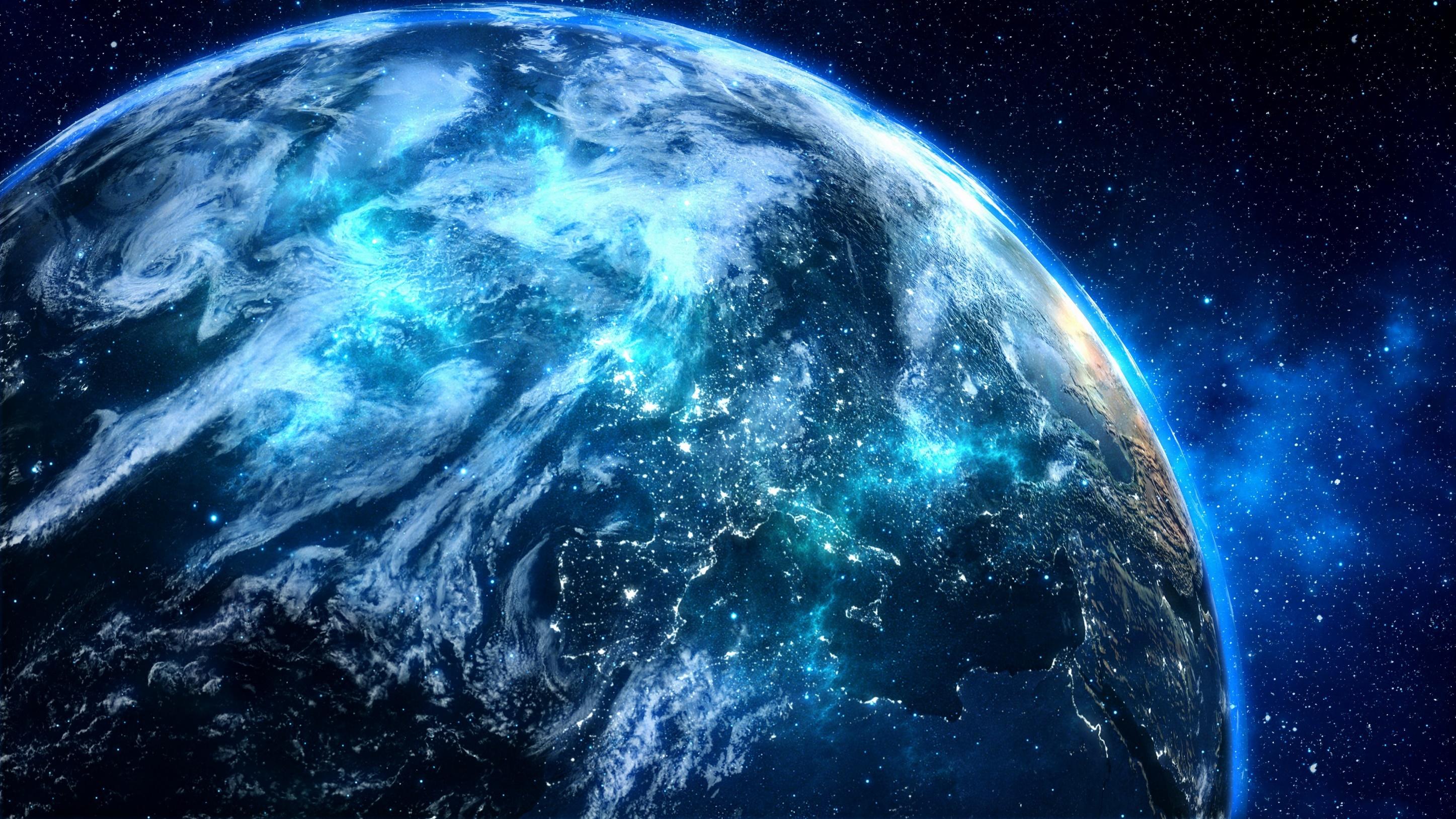 Blue Digital Planet, HD Digital Universe, 4k Wallpapers ...
