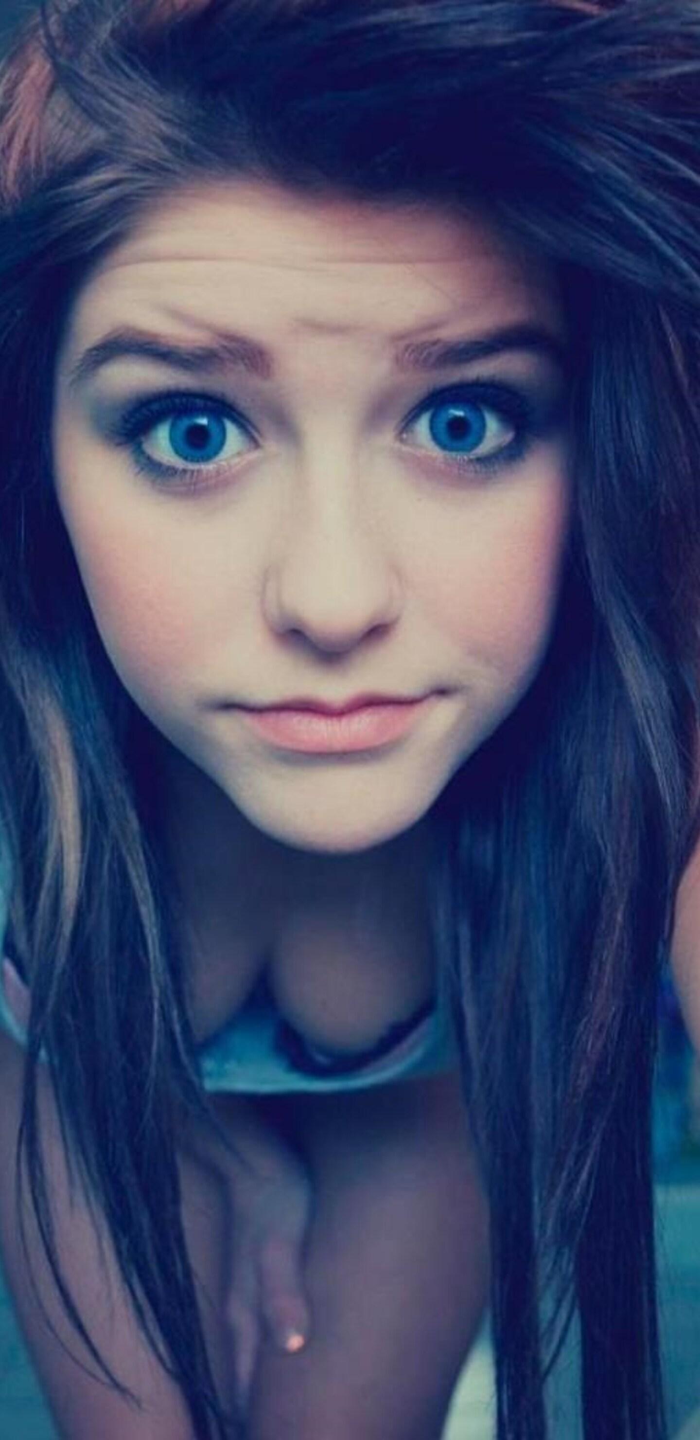 1440x2960 blue eyes cute teen girl samsung galaxy note 9 8 - Galaxy wallpaper for girls ...