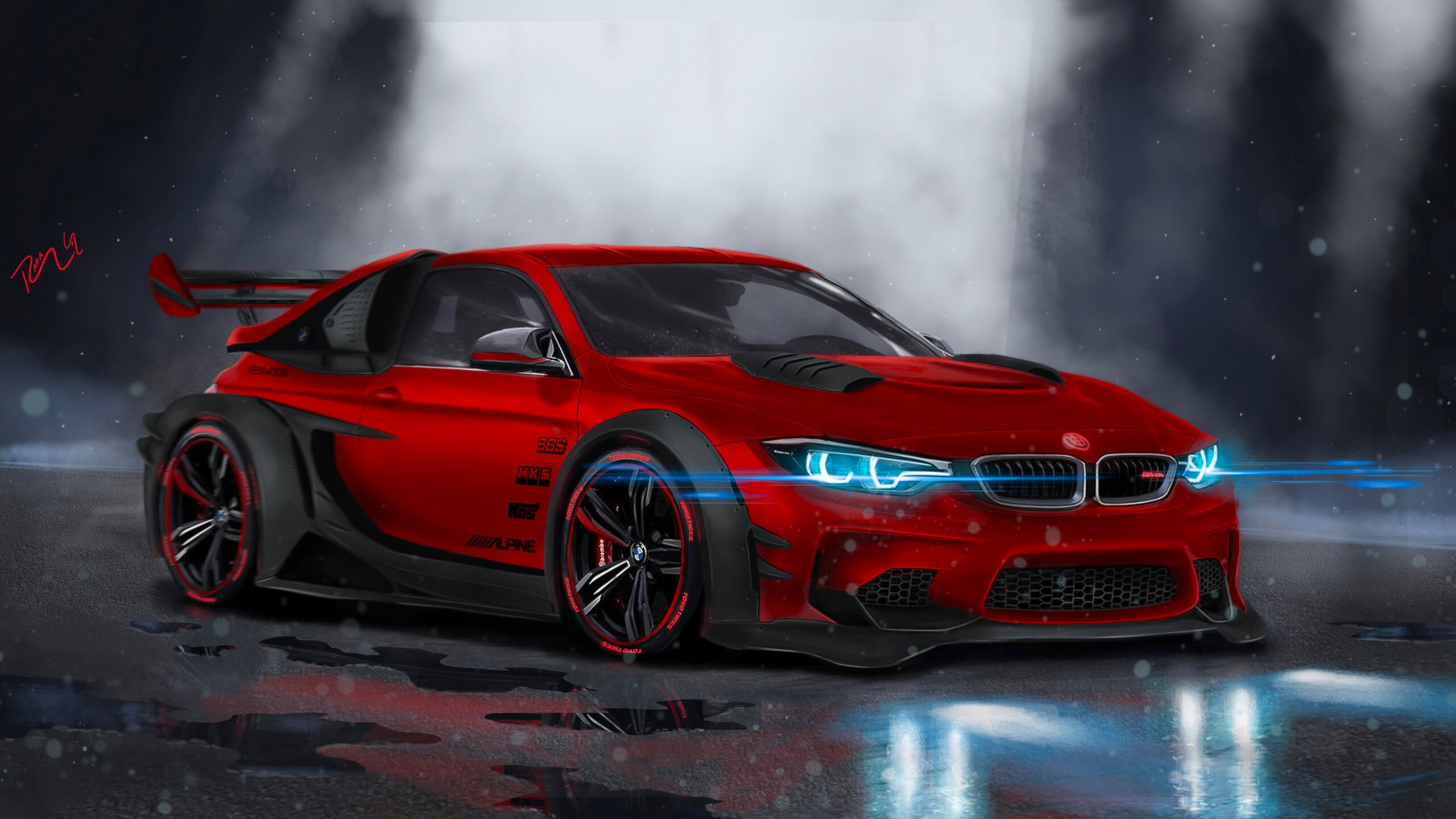 2560x1440 BMW M4 Highly Modified 1440P Resolution HD 4k ...