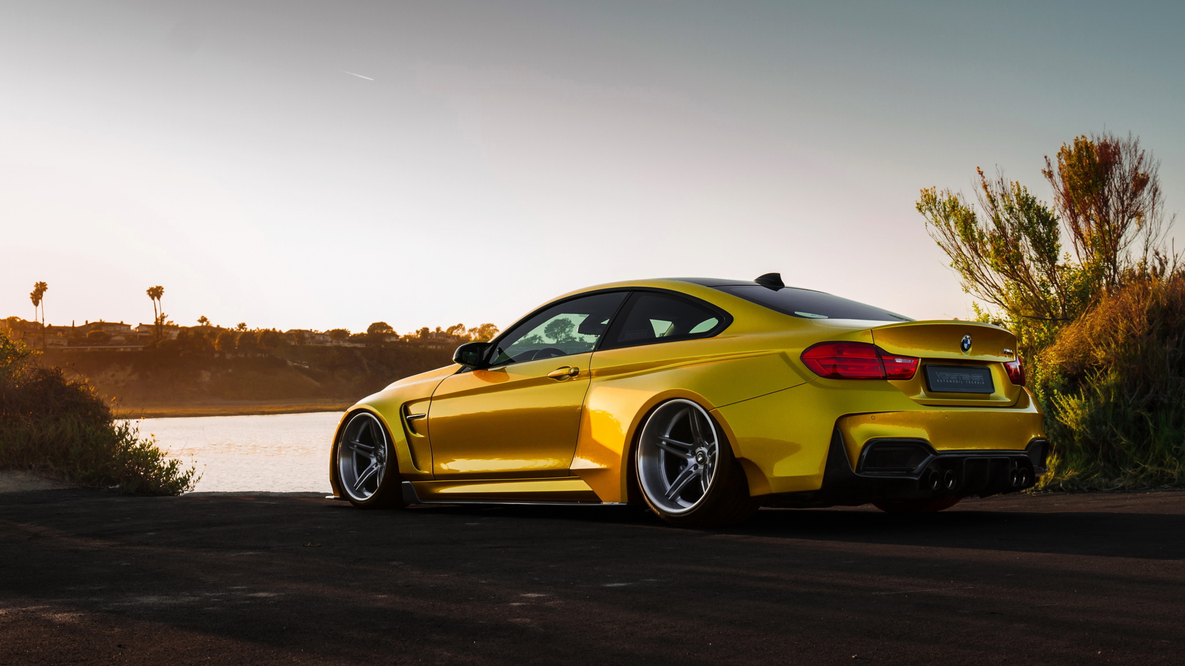 Bmw M4 Vorsteiner Gold Hd Cars 4k Wallpapers Images