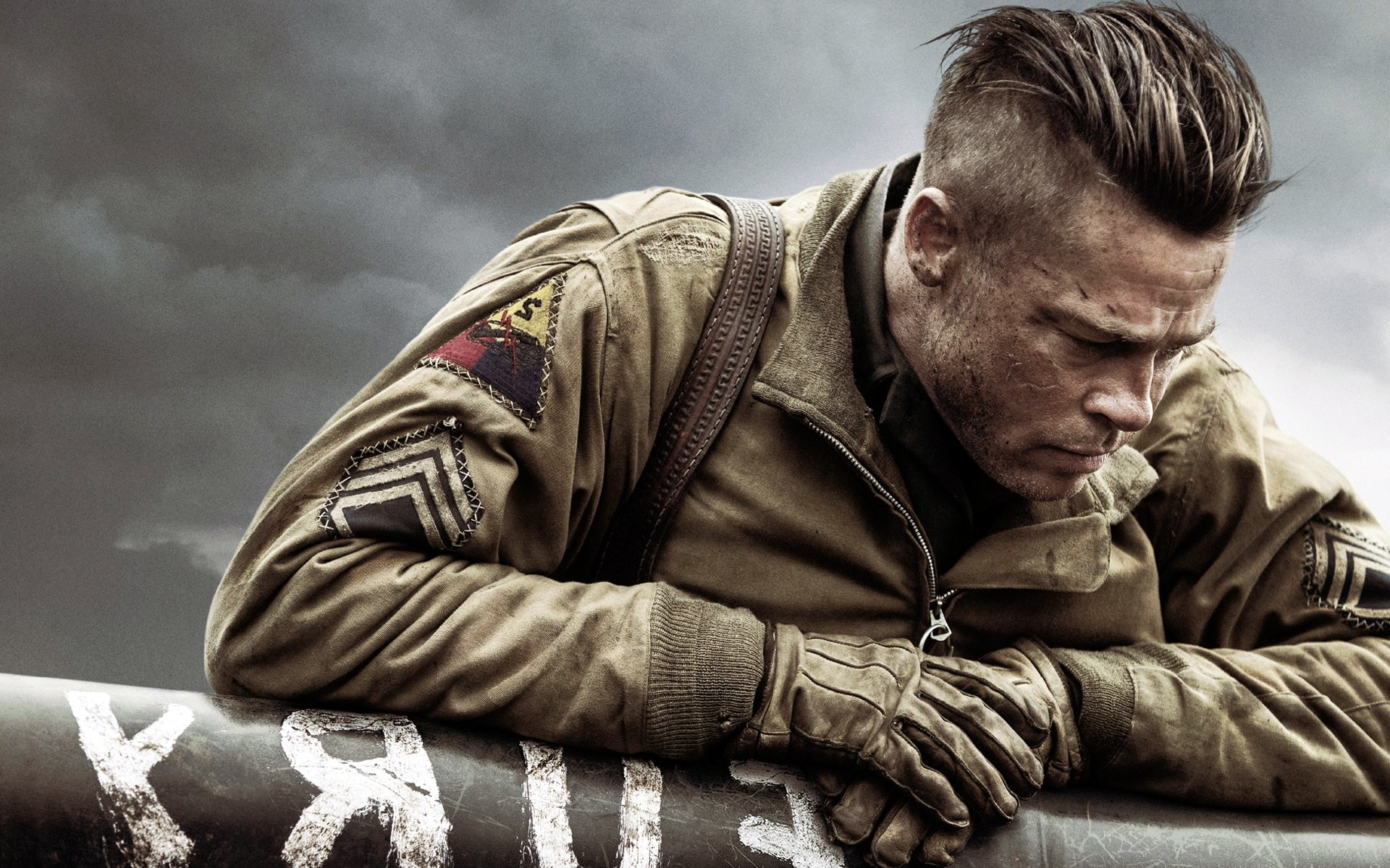 Brad Pitt In Fury Movi...