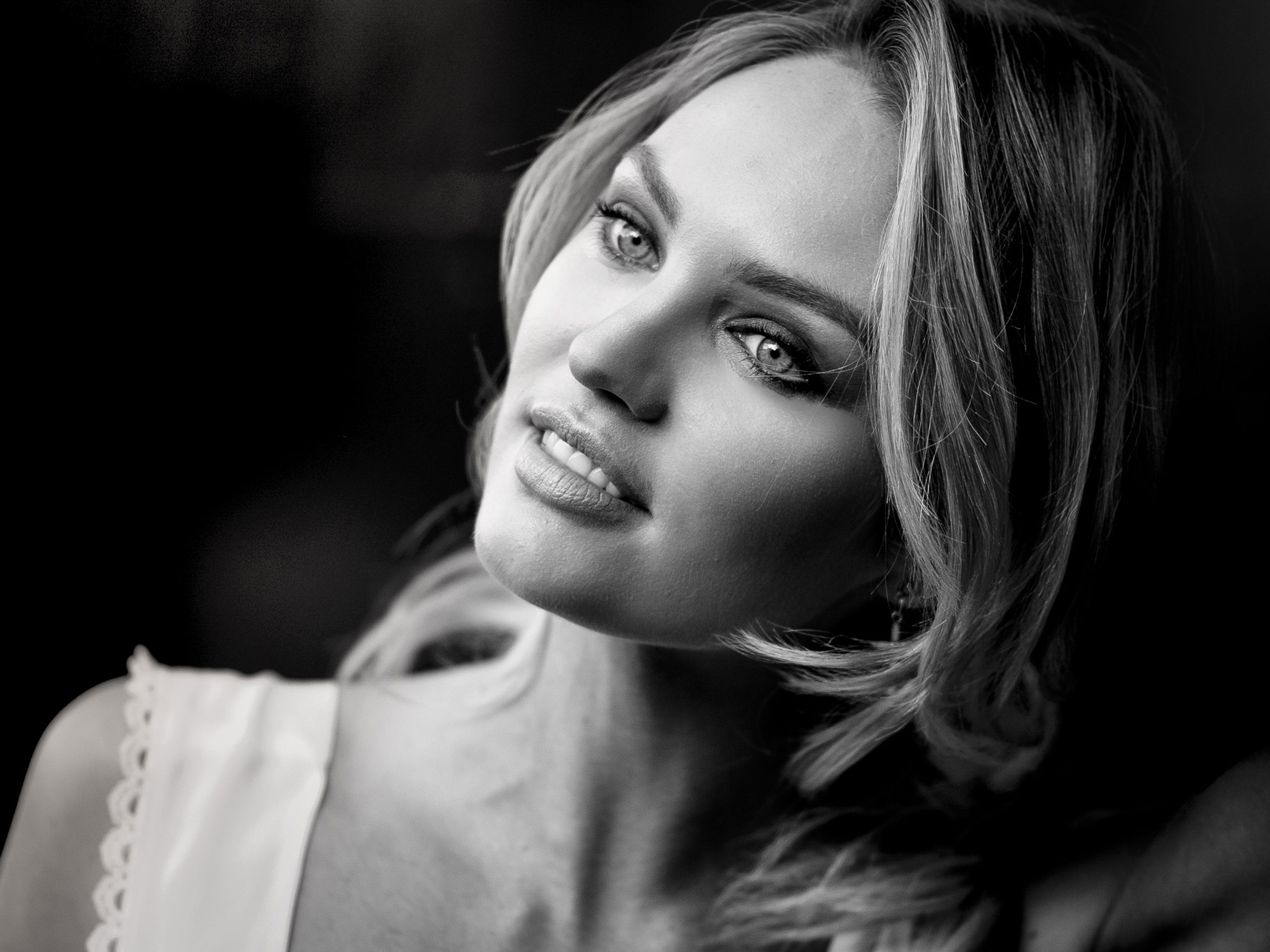 1080p Portrait Wallpaper: 1920x1080 Candice Swanepol Monochrome Portrait Laptop Full