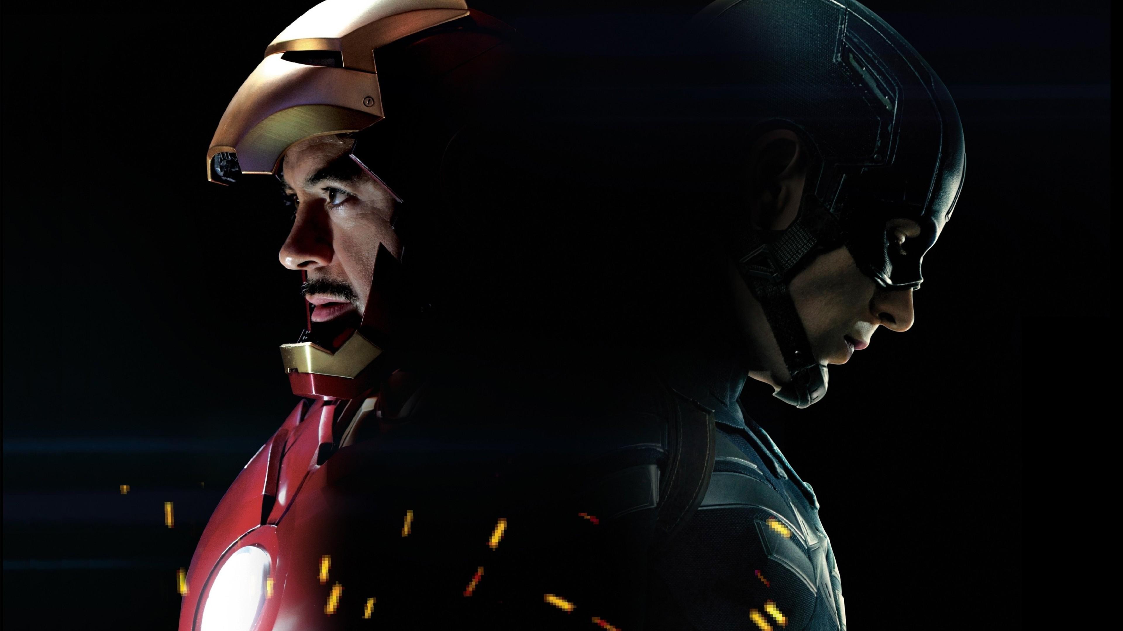 Captain america 3 civil war iron man hd movies 4k for Sfondi iron man