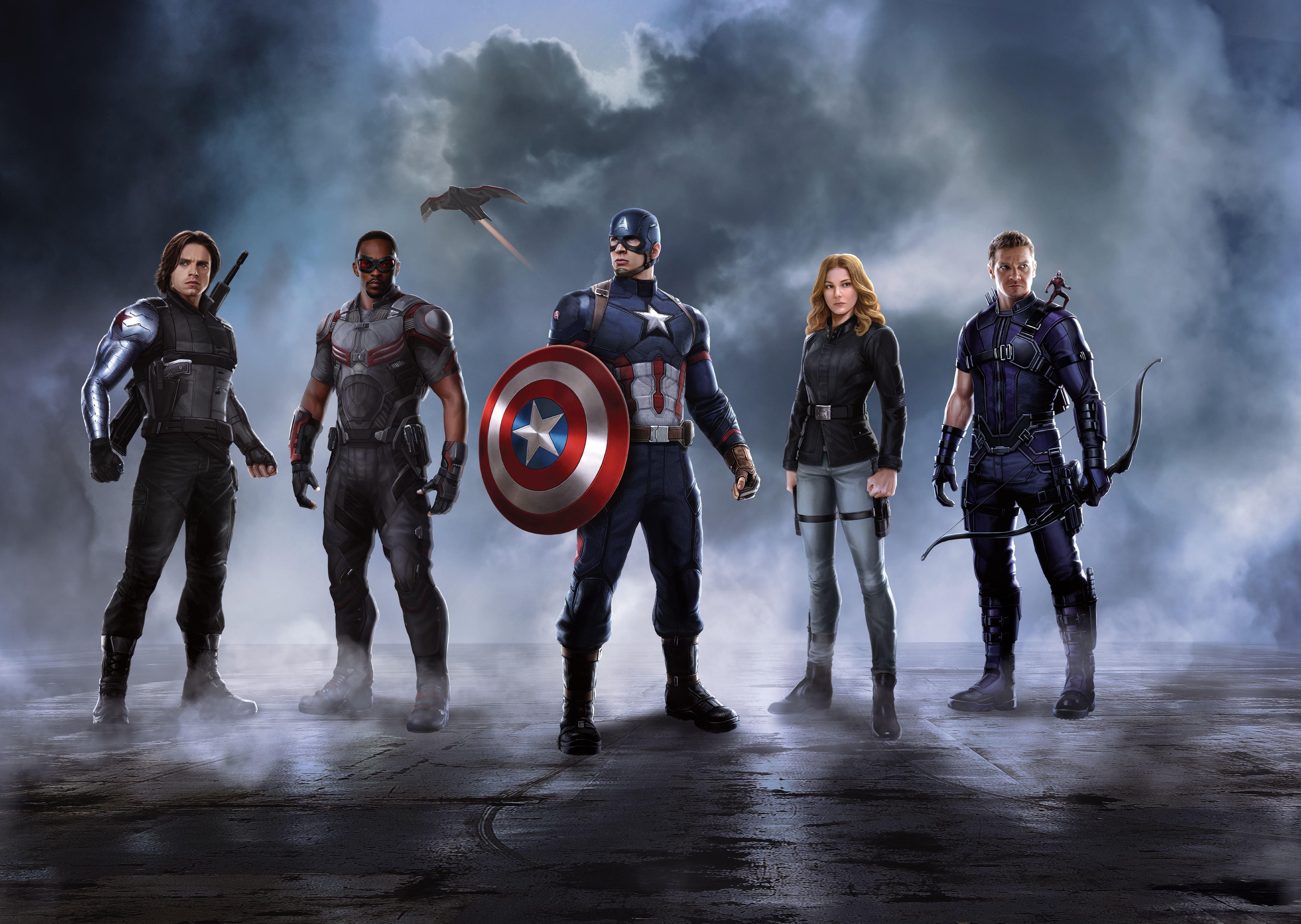 Captain America Civil War 4k: Captain America Crew In Captain America Civil War, HD