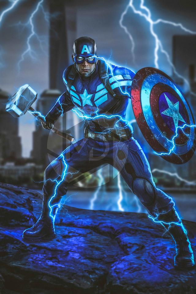 640x960 Captain America Mjolnir Avengers Endgame 4k 2019 ...