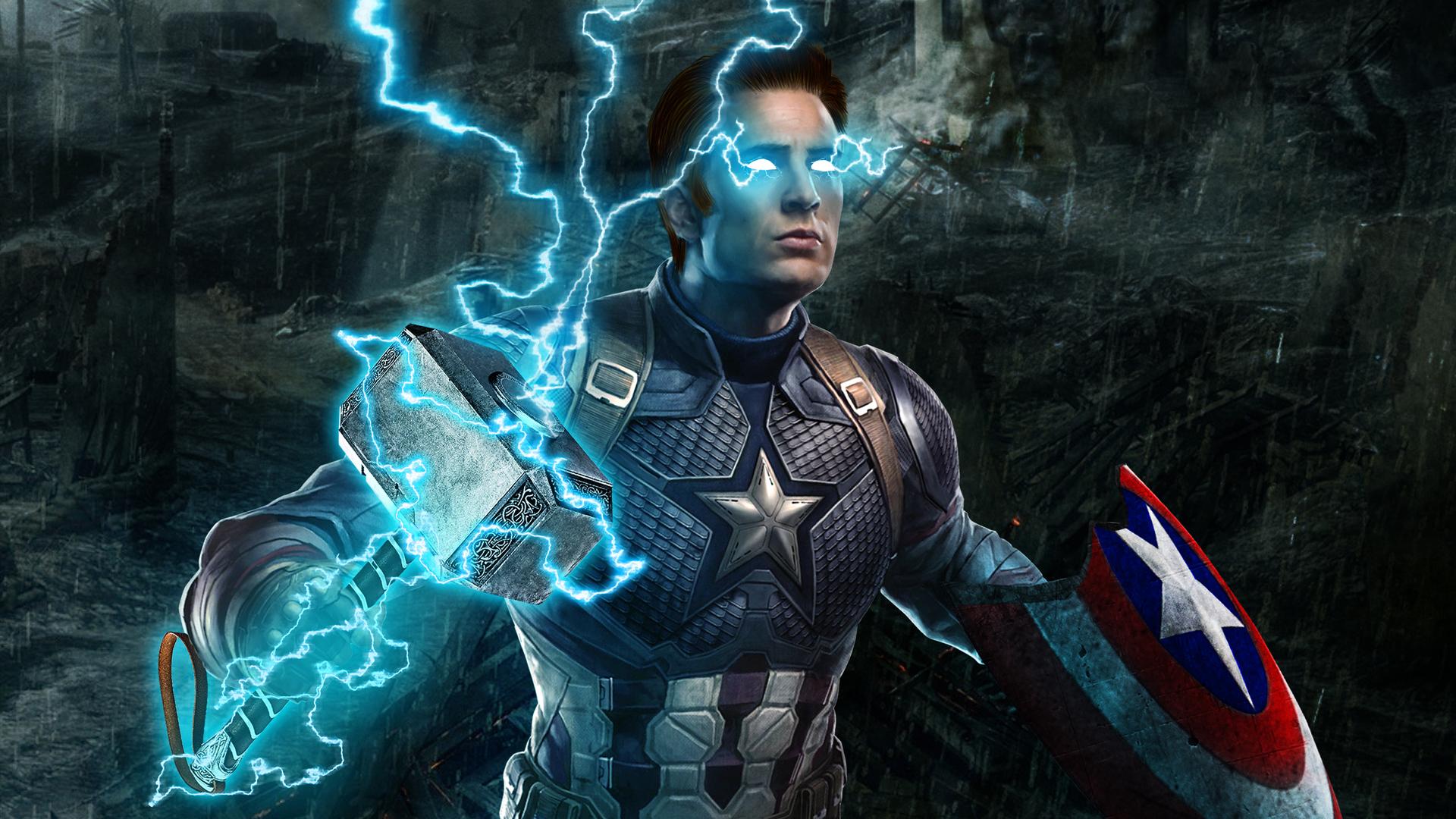 1920x1080 Captain America Mjolnir Avengers Endgame 4k ...