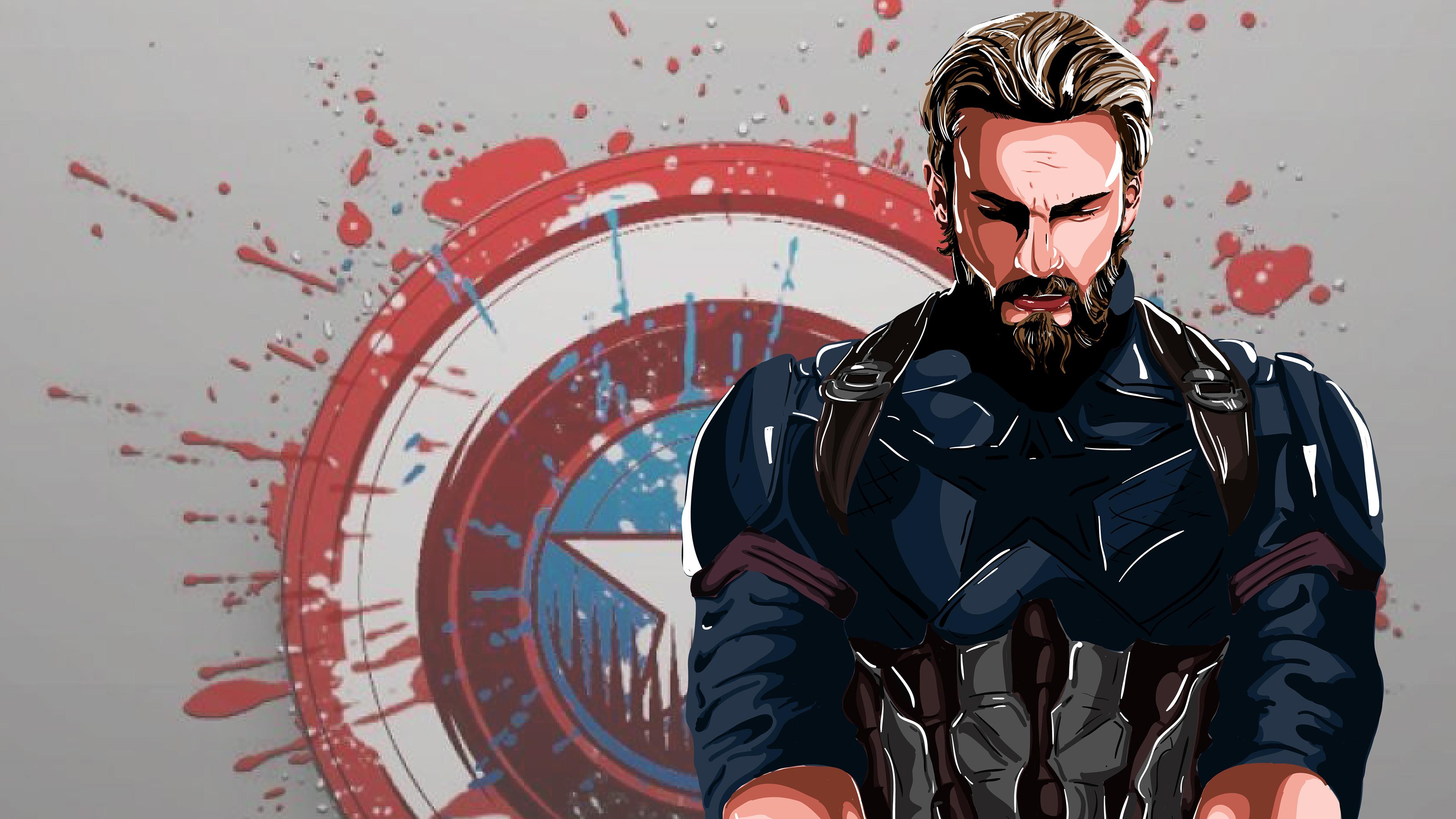 Captain America New Art 4k, HD Superheroes, 4k Wallpapers
