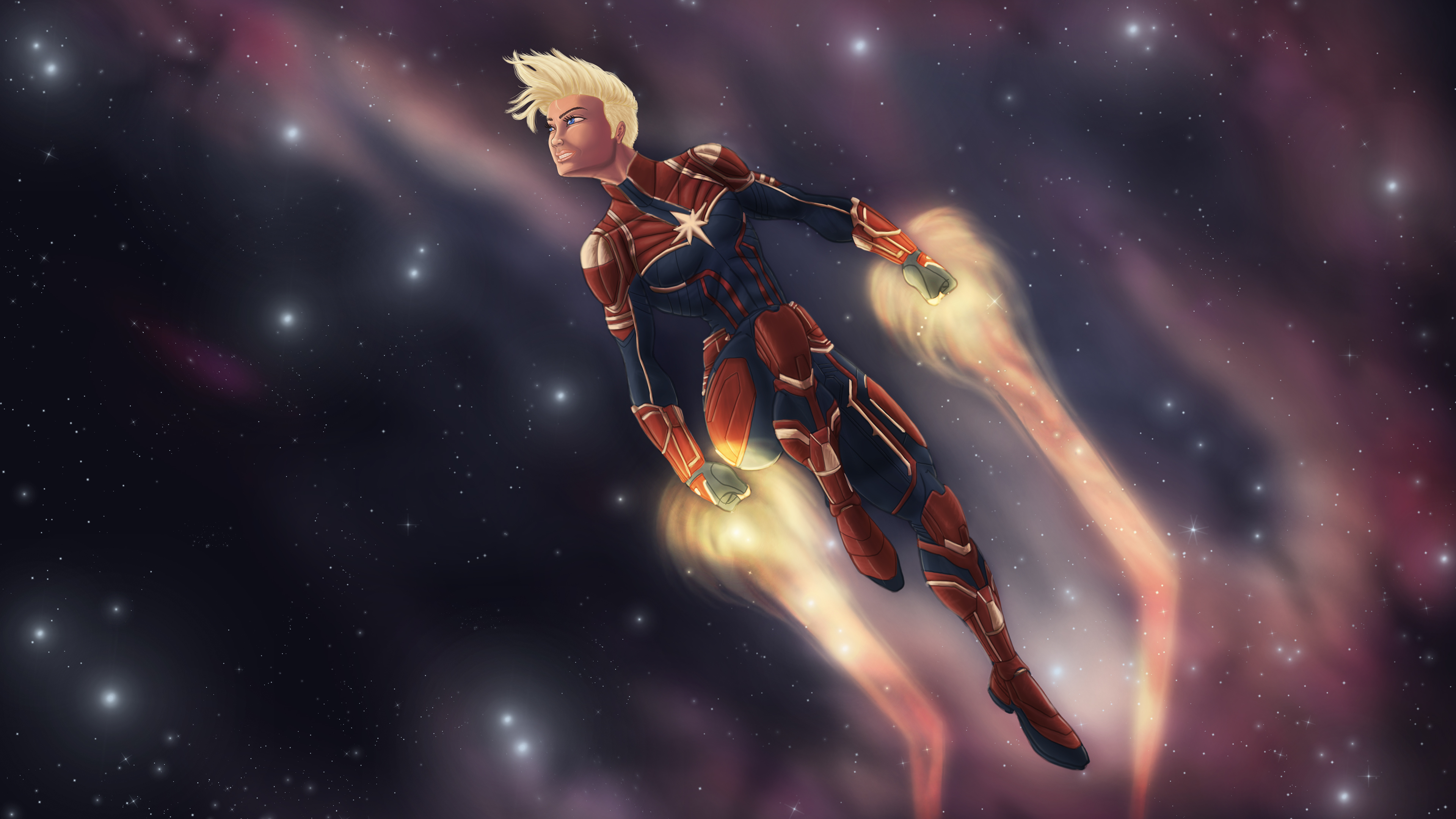 Movie Poster 2019: 1242x2688 Captain Marvel Flying Iphone XS MAX HD 4k