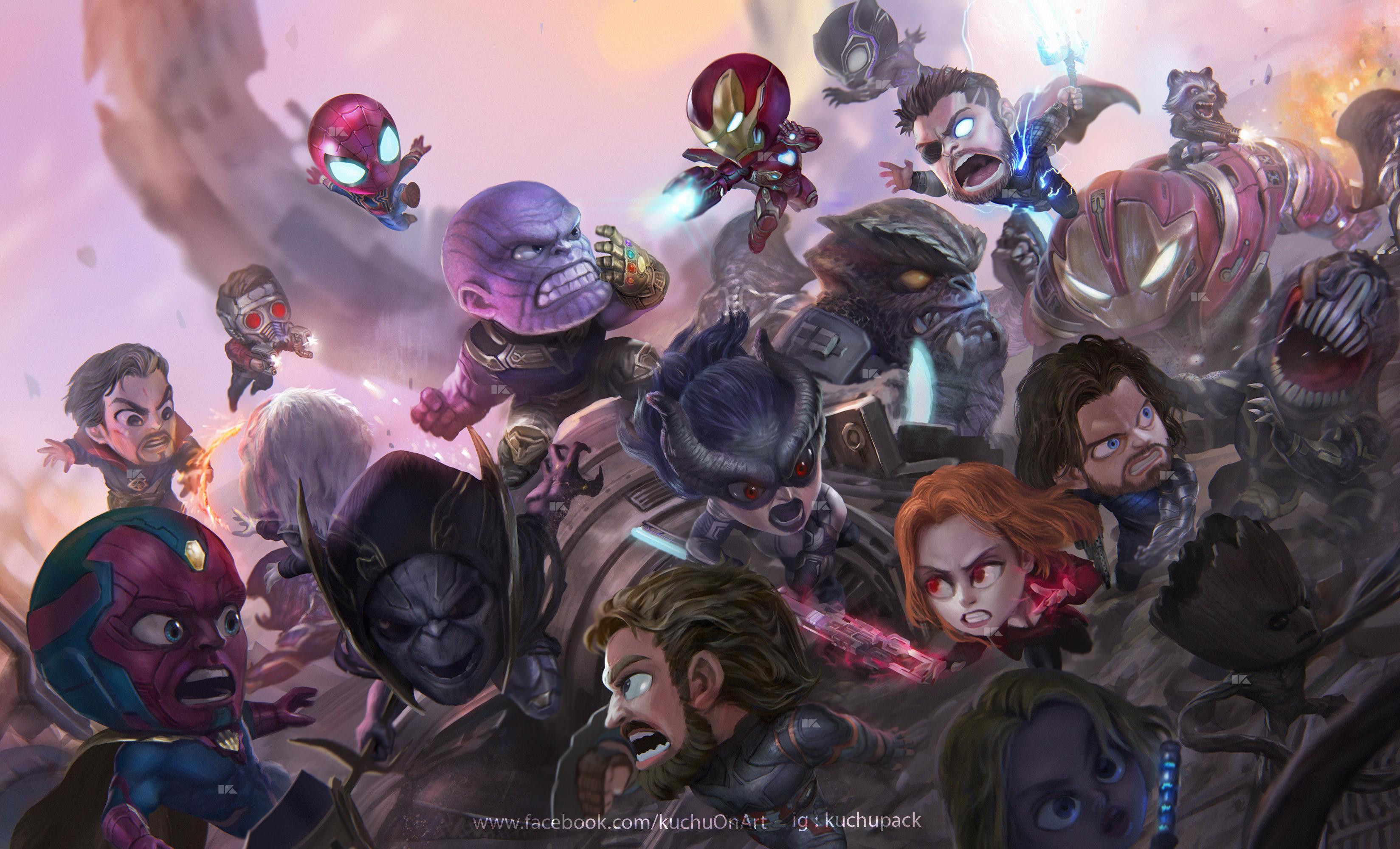 2880x1800 Chibi Avengers Infinity War Macbook Pro Retina ...