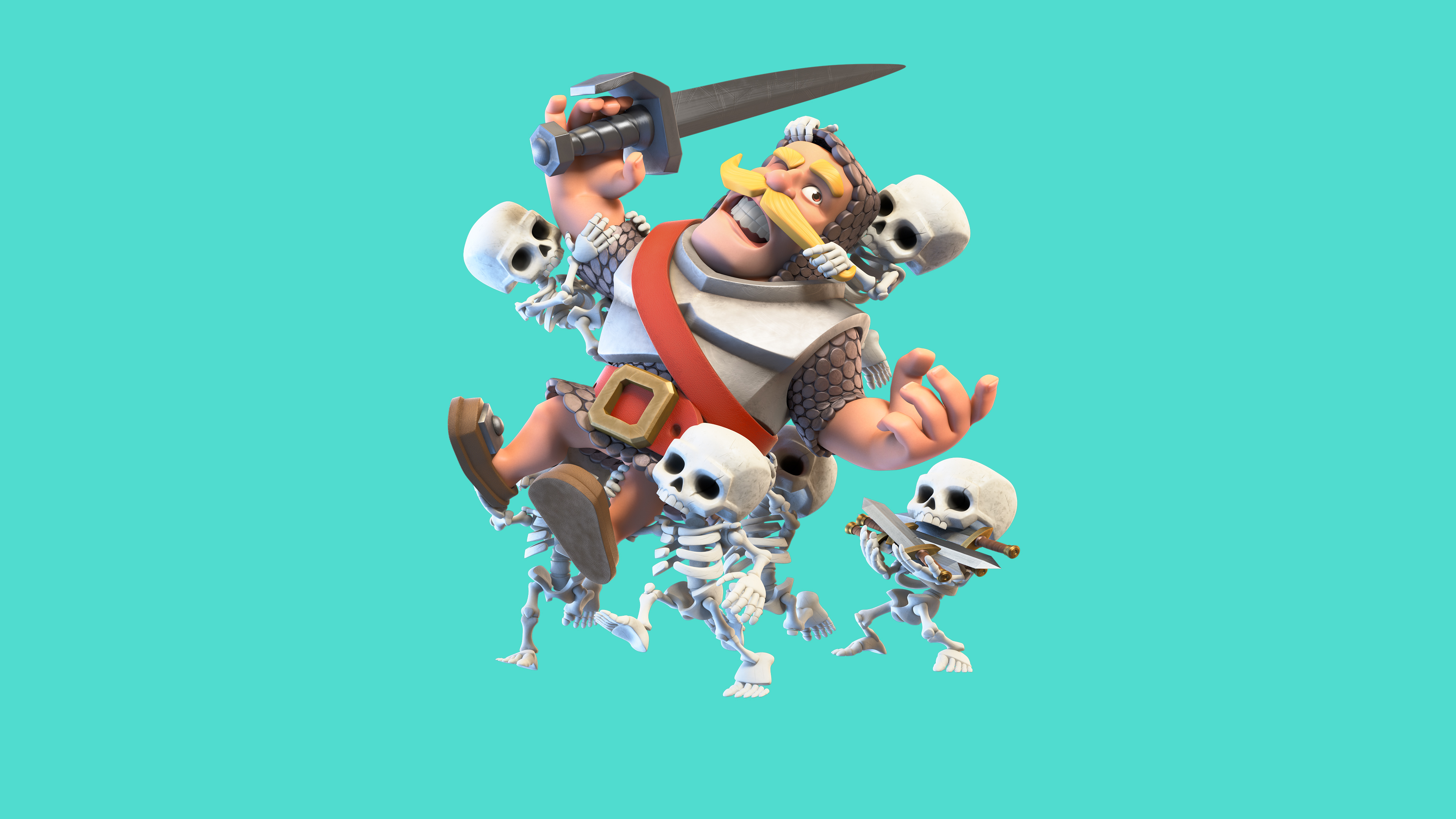 Clash royale knight and skelton hd games 4k wallpapers images backgrounds photos and pictures - Clash royale 2560x1440 ...