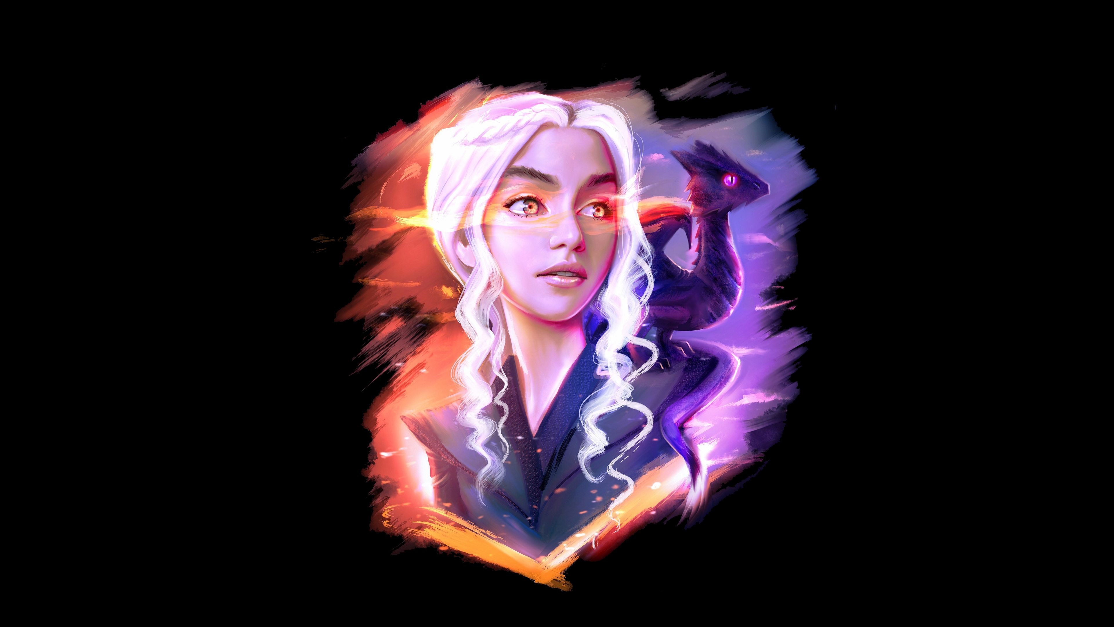 2048x2048 Anthem Ipad Air Hd 4k Wallpapers Images: 2048x2048 Daenerys Targaryen And Dragon Fan Art Ipad Air