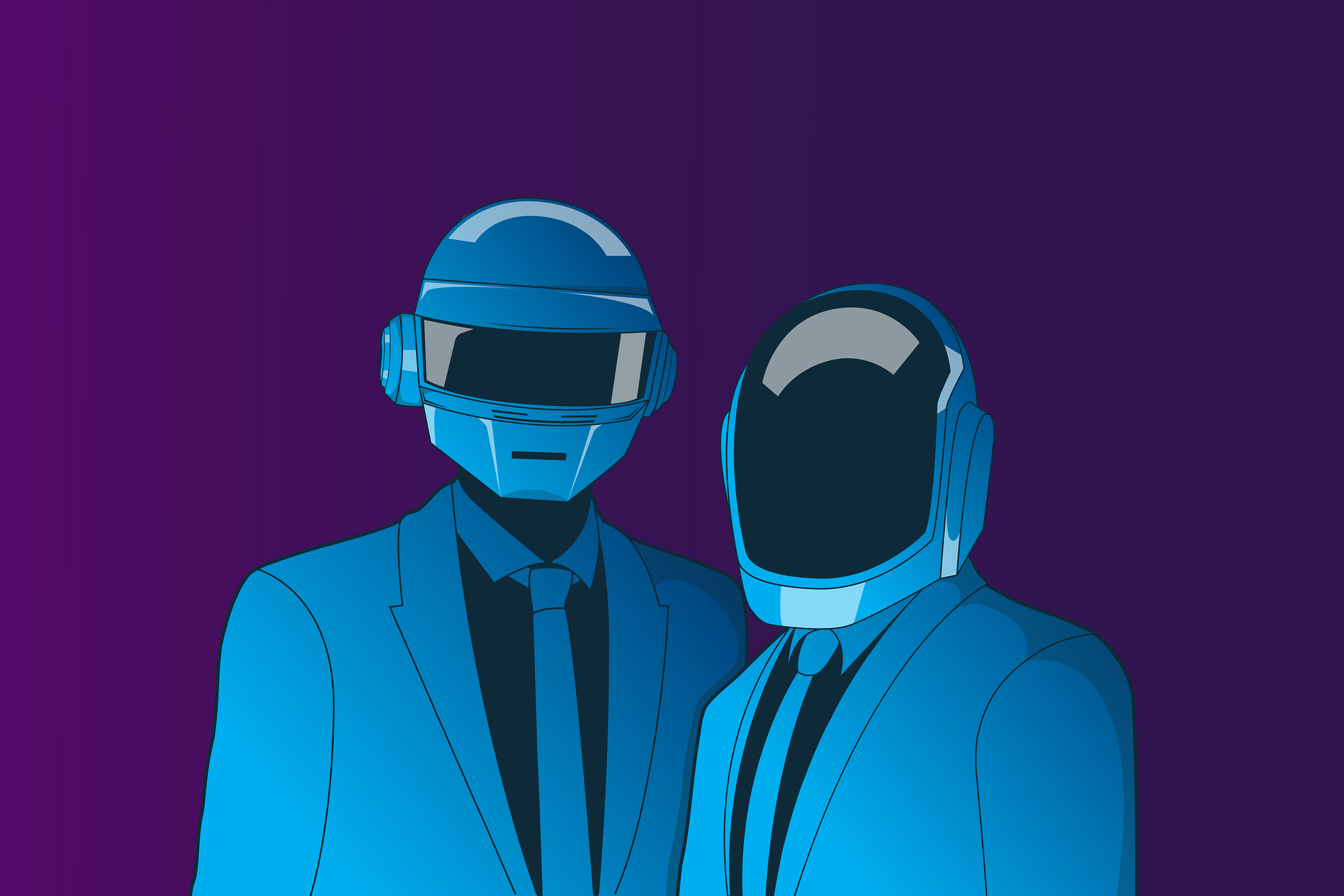 Daft Punk Art 4k, HD Music, 4k Wallpapers, Images ...
