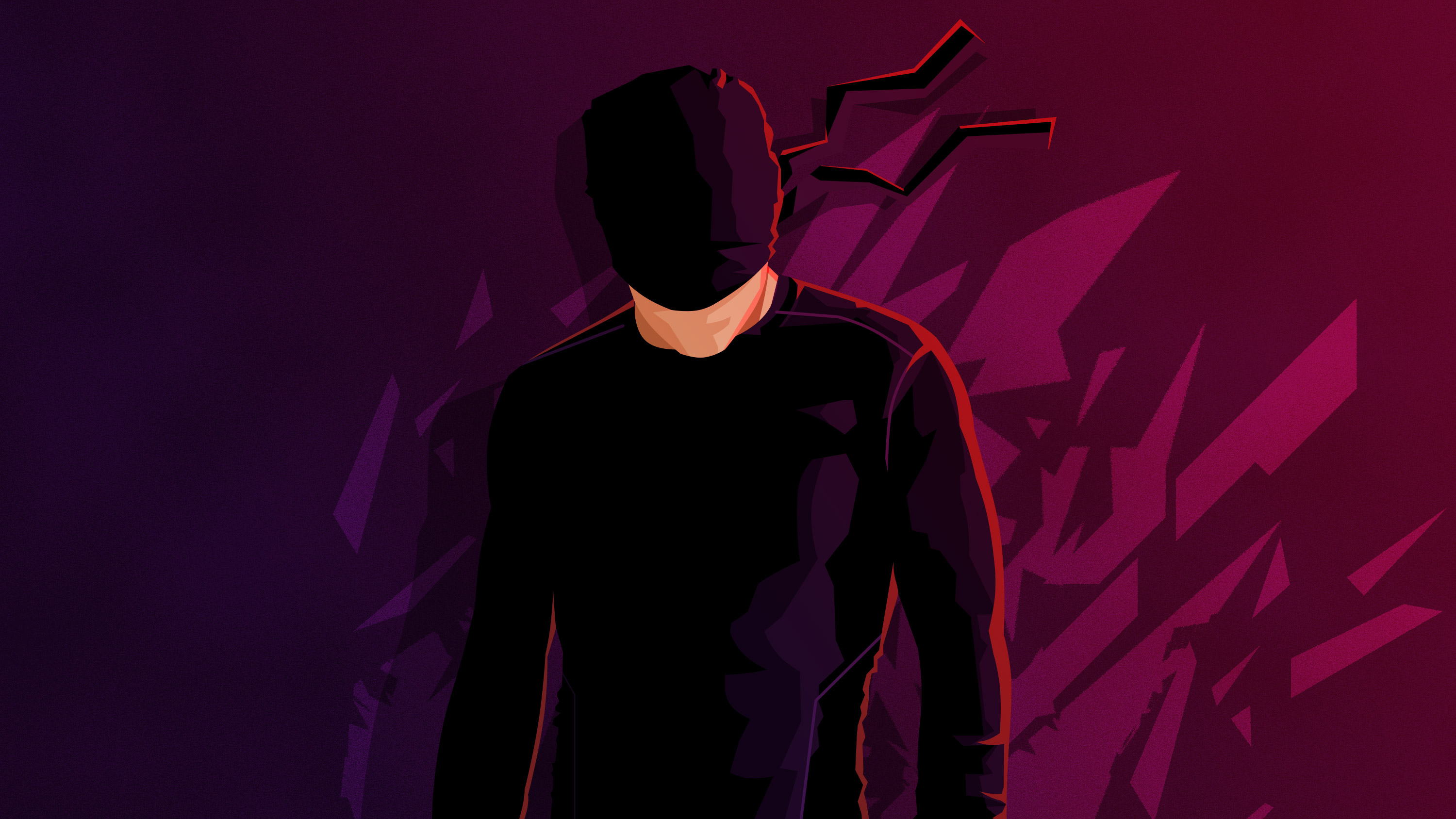 Daredevil minimalism hd hd superheroes 4k wallpapers - Tv series wallpaper 4k ...