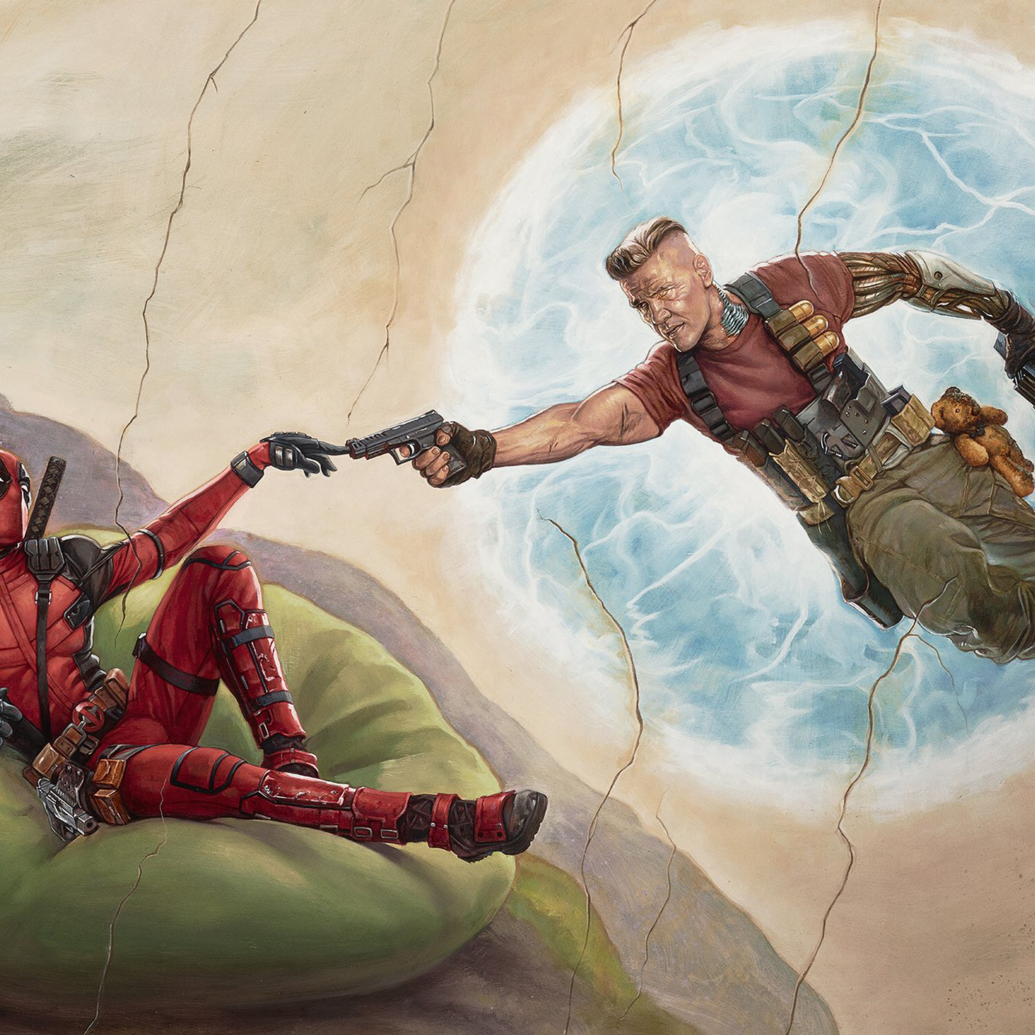 2048x2048 Deadpool 2 2018 Movie Poster Ipad Air HD 4k