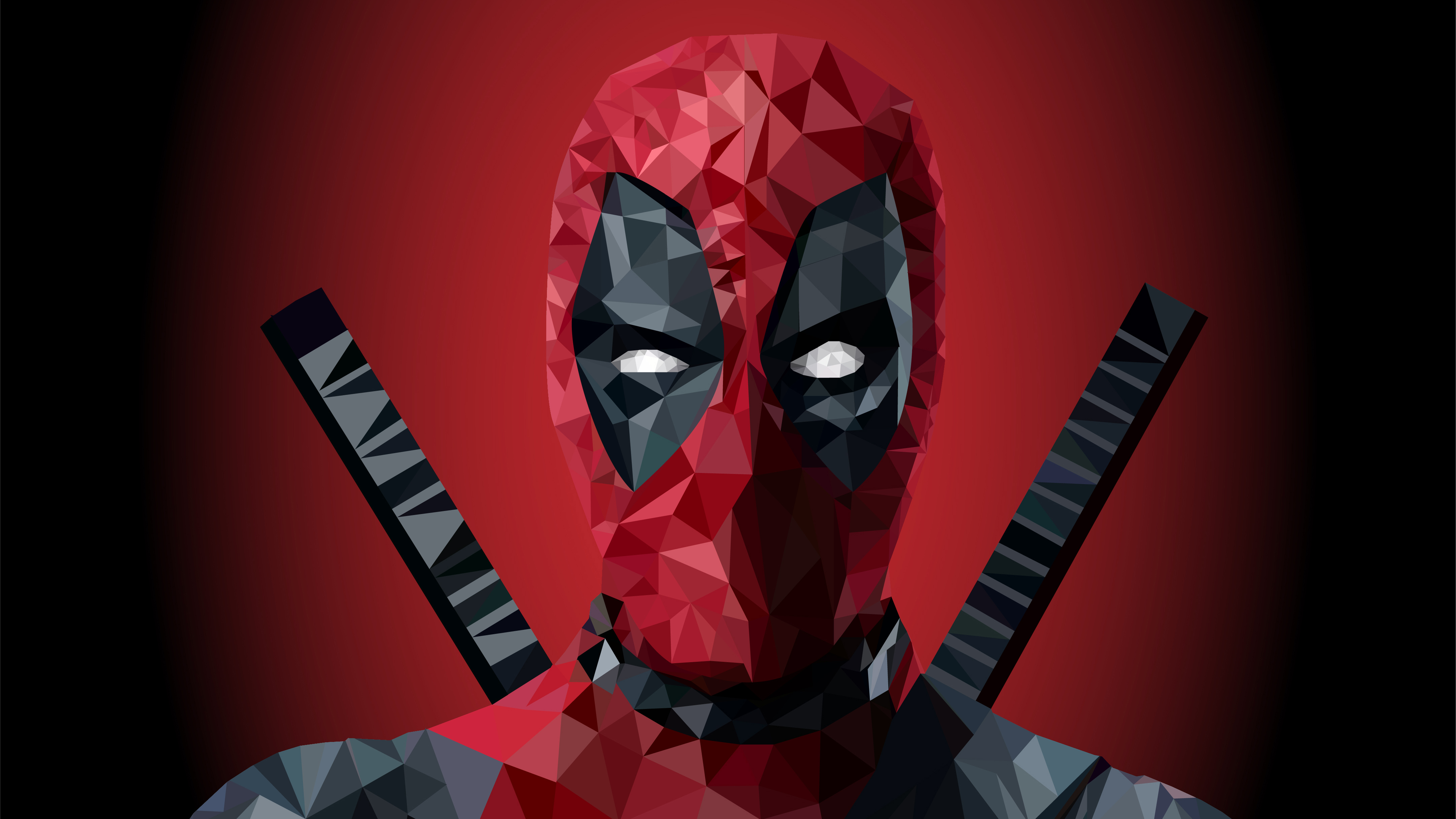 1920x1080 Deadpool Low Poly Art 4k Laptop Full HD 1080P HD ...