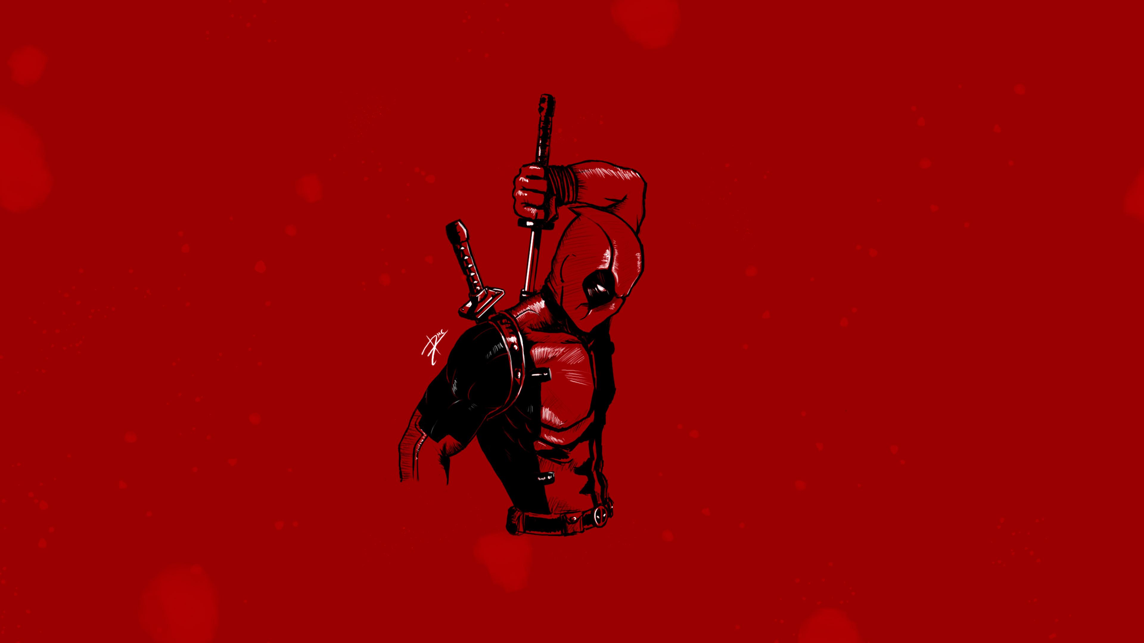 Deadpool Minimalist 4k, HD Superheroes, 4k Wallpapers ...