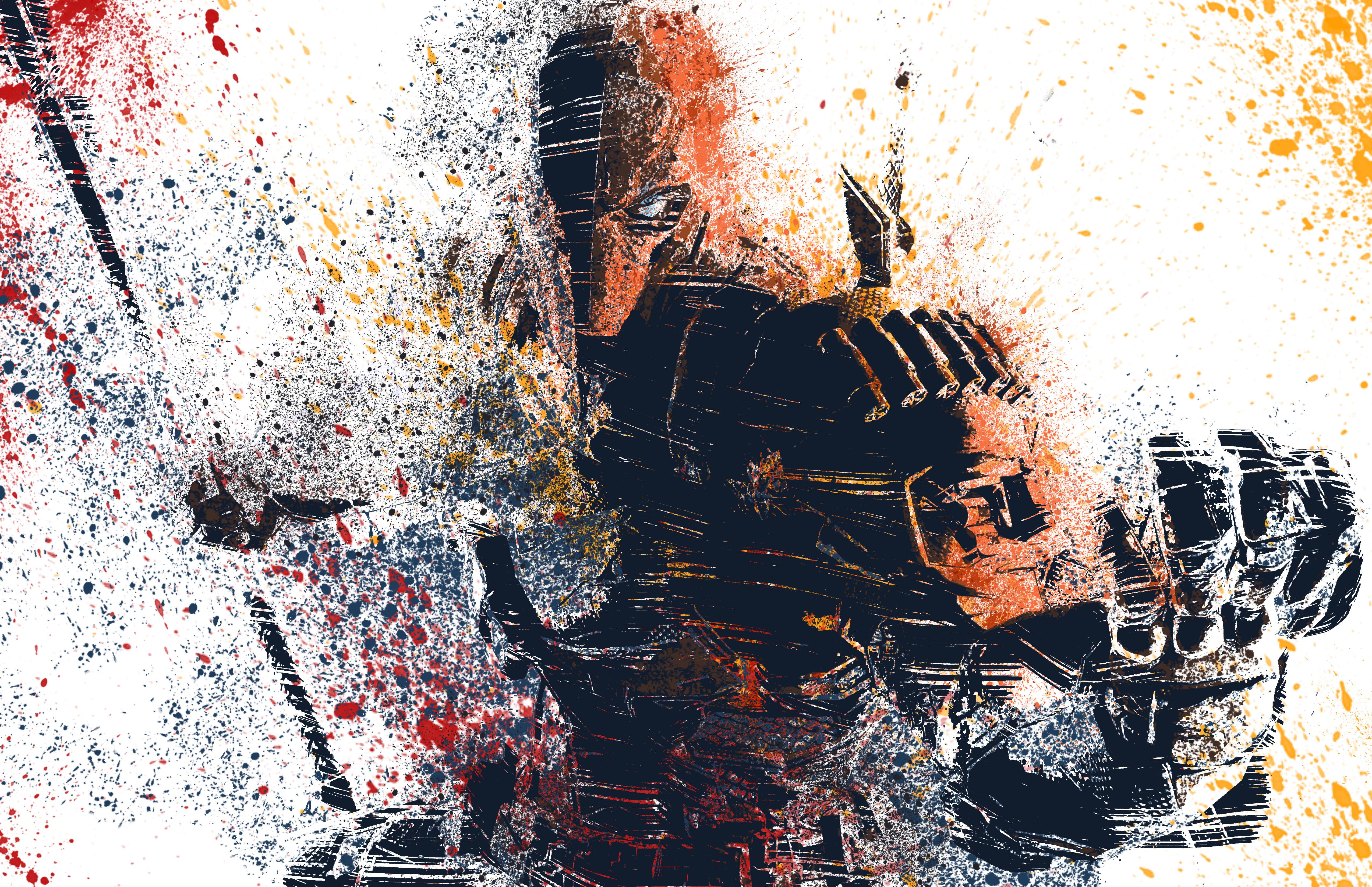 2560x1080 Final Fantasy Xv Artwork 2560x1080 Resolution Hd: 2560x1080 Deathstroke Splat Colours Artwork 2560x1080