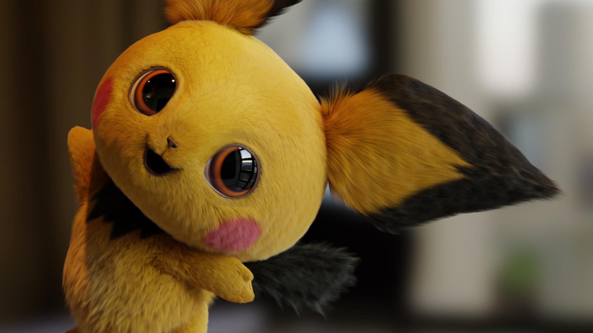 2048x2048 Detective Pikachu Movie FanArt Ipad Air HD 4k ...