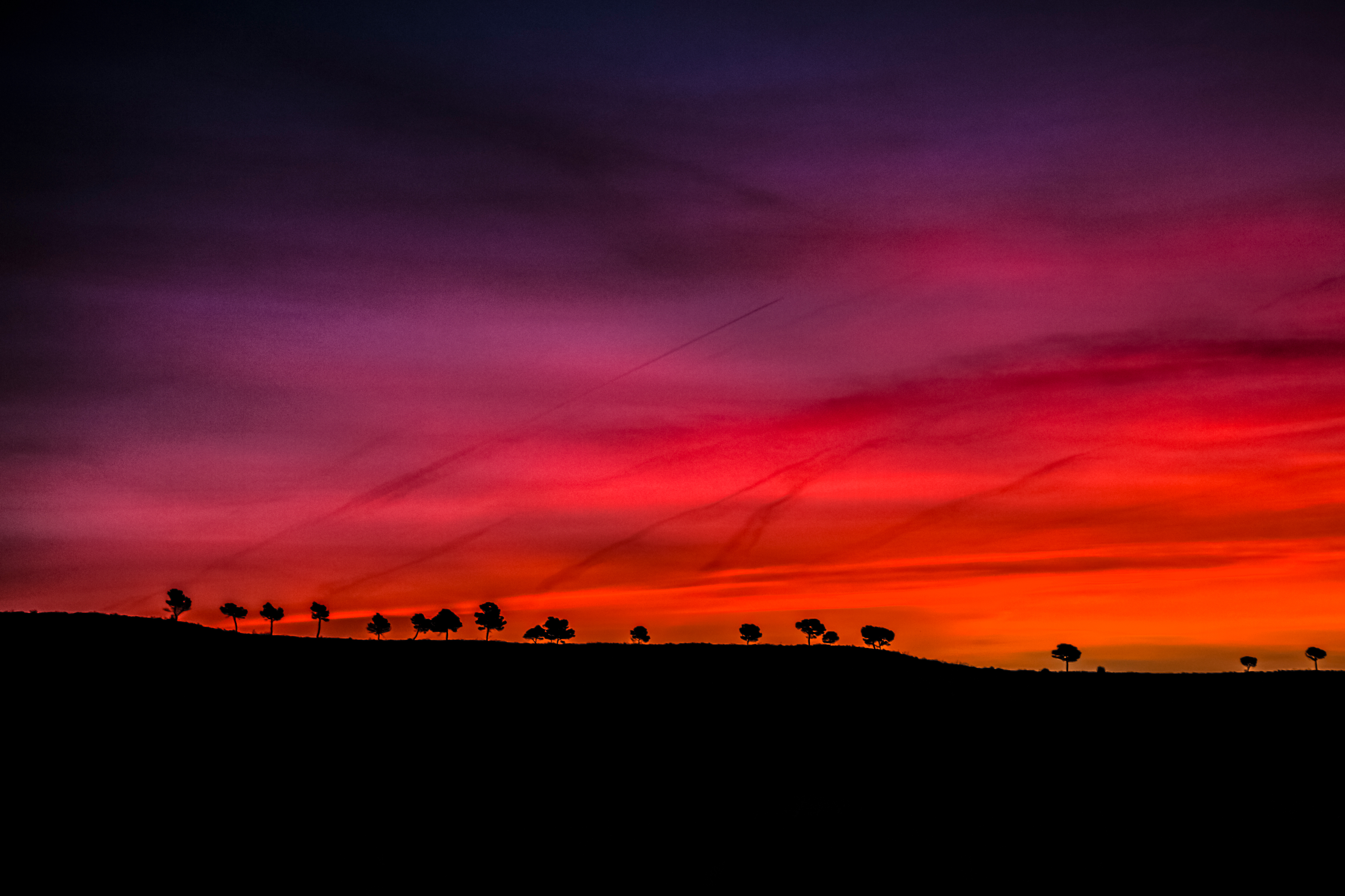 Early Morning Dark Red Scenery 4k, HD Nature, 4k ...