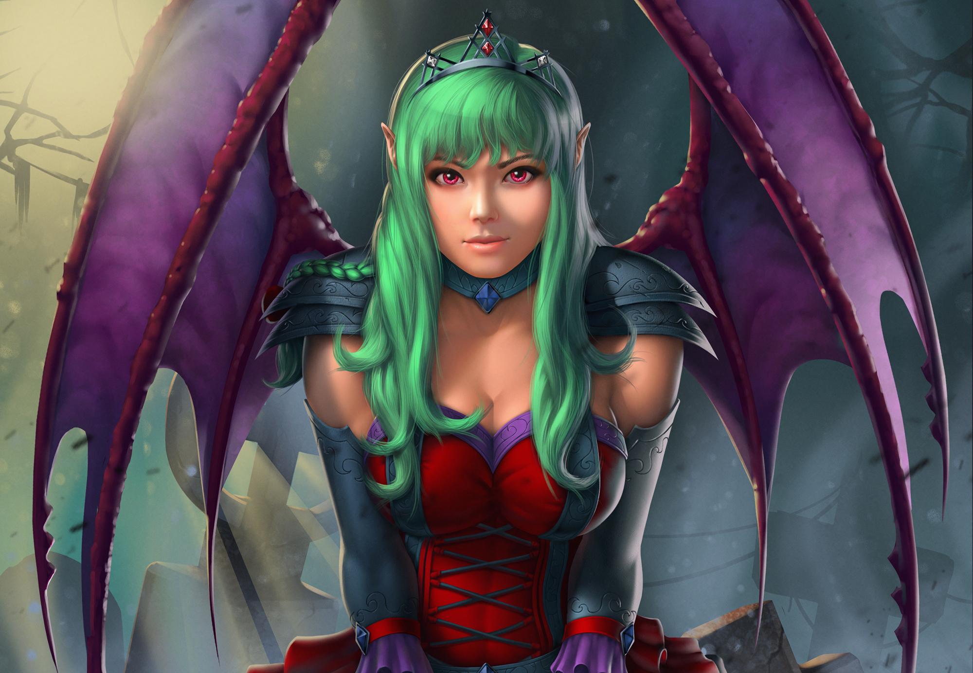 Fantasy demon girl hd artist 4k wallpapers images - Demon wallpaper 4k ...