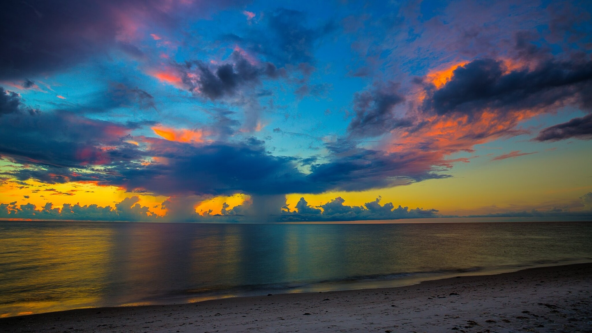 Sunset Backgrounds Pictures: 2048x1152 Florida Beach Sunset 2048x1152 Resolution HD 4k
