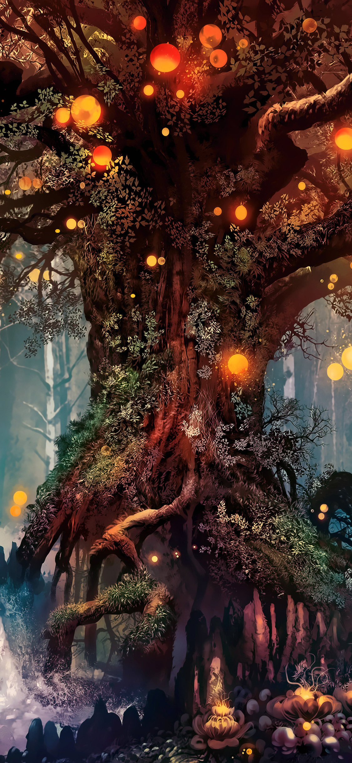 1125x2436 Forest Fantasy Artwork 4k Iphone XS,Iphone 10