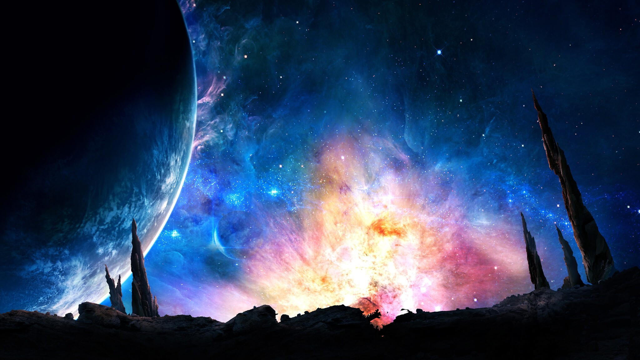 2048x1152 galaxy digital universe 2048x1152 resolution hd 4k wallpapers images backgrounds - Galaxy wallpaper for girls ...