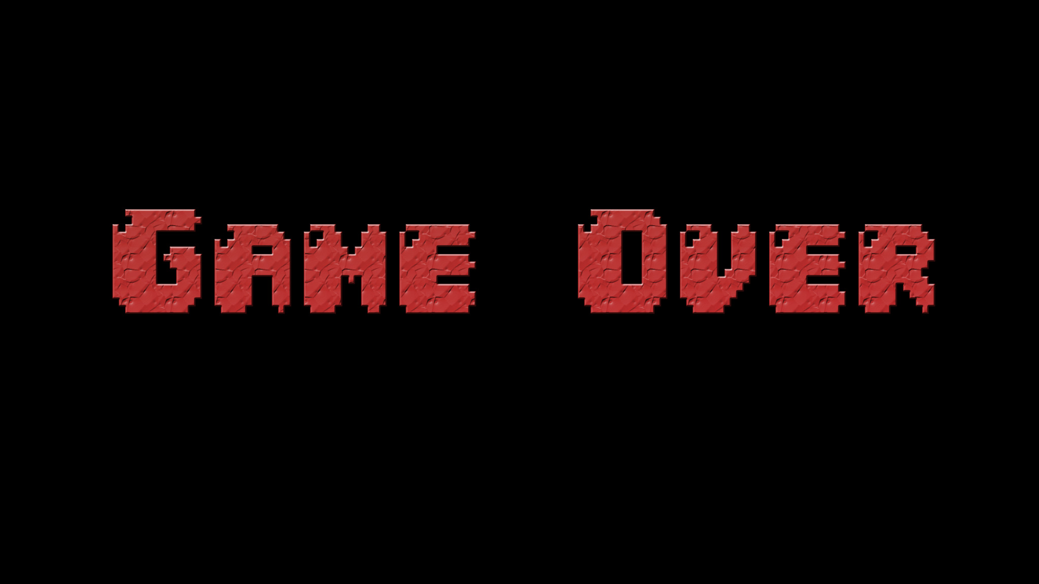 2048x1152 Game Over Typography 2048x1152 Resolution HD 4k