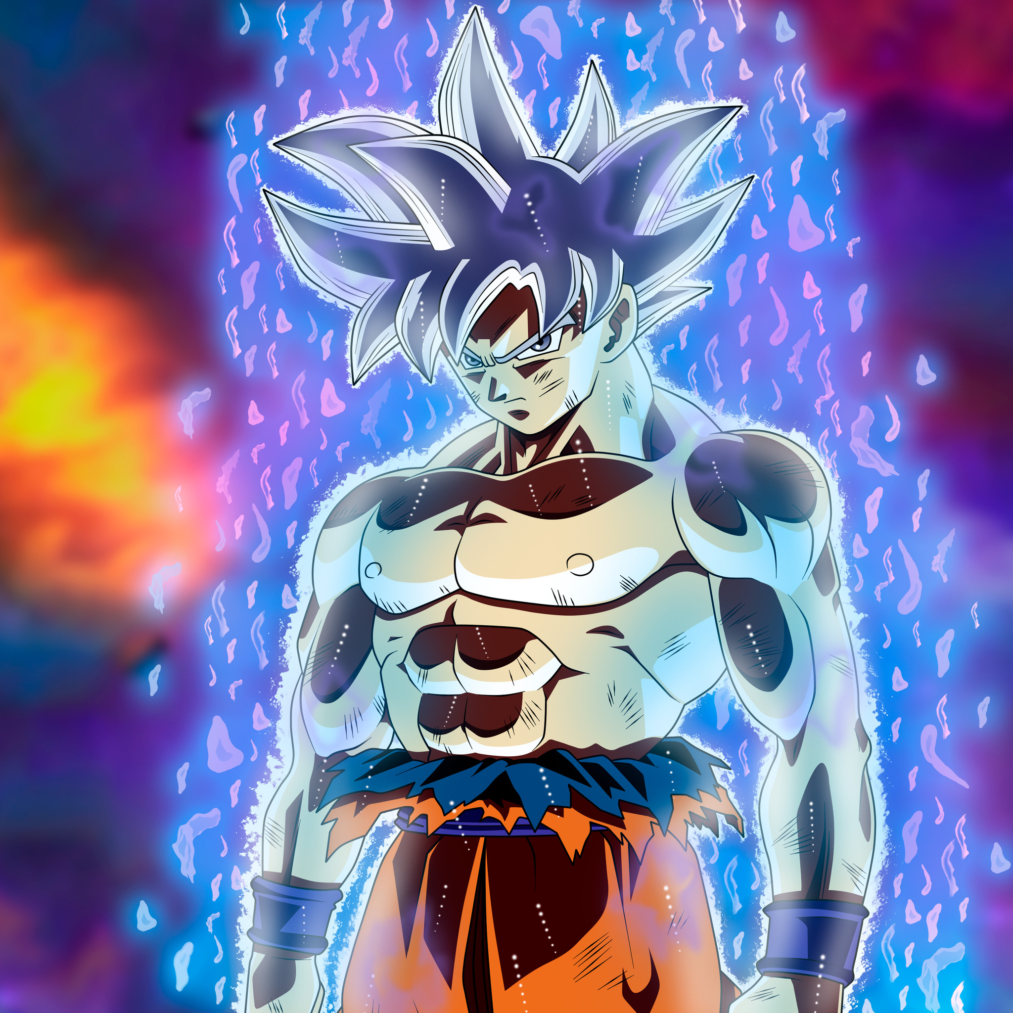 Dragon Ball Super Christmas Wallpaper: 2048x2048 Goku Migatte No Gokui Perfecto Ultra Instinct